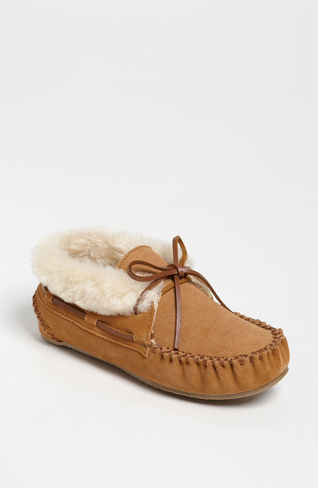 'Chrissy' Slipper Bootie,                             Main thumbnail 1, color,                             CINNAMON SUEDE