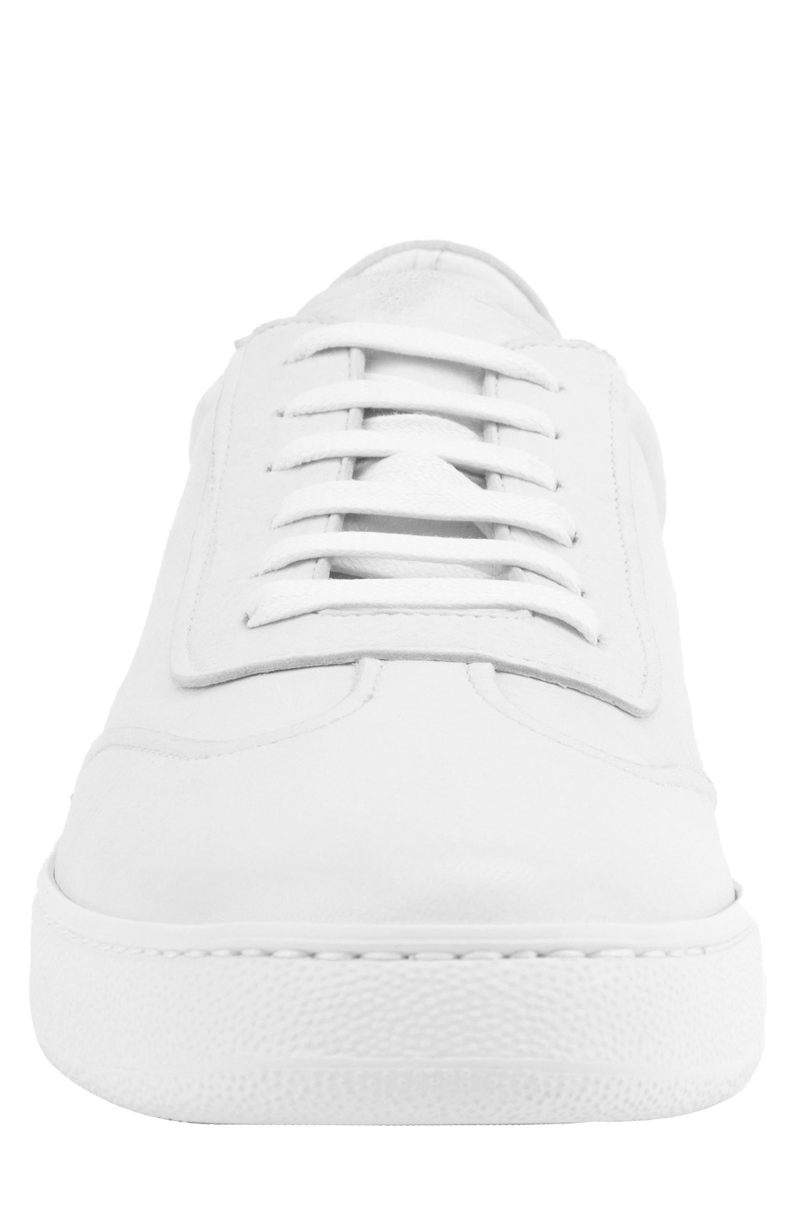 Tristan Sneaker,                             Alternate thumbnail 4, color,                             WHITE LEATHER