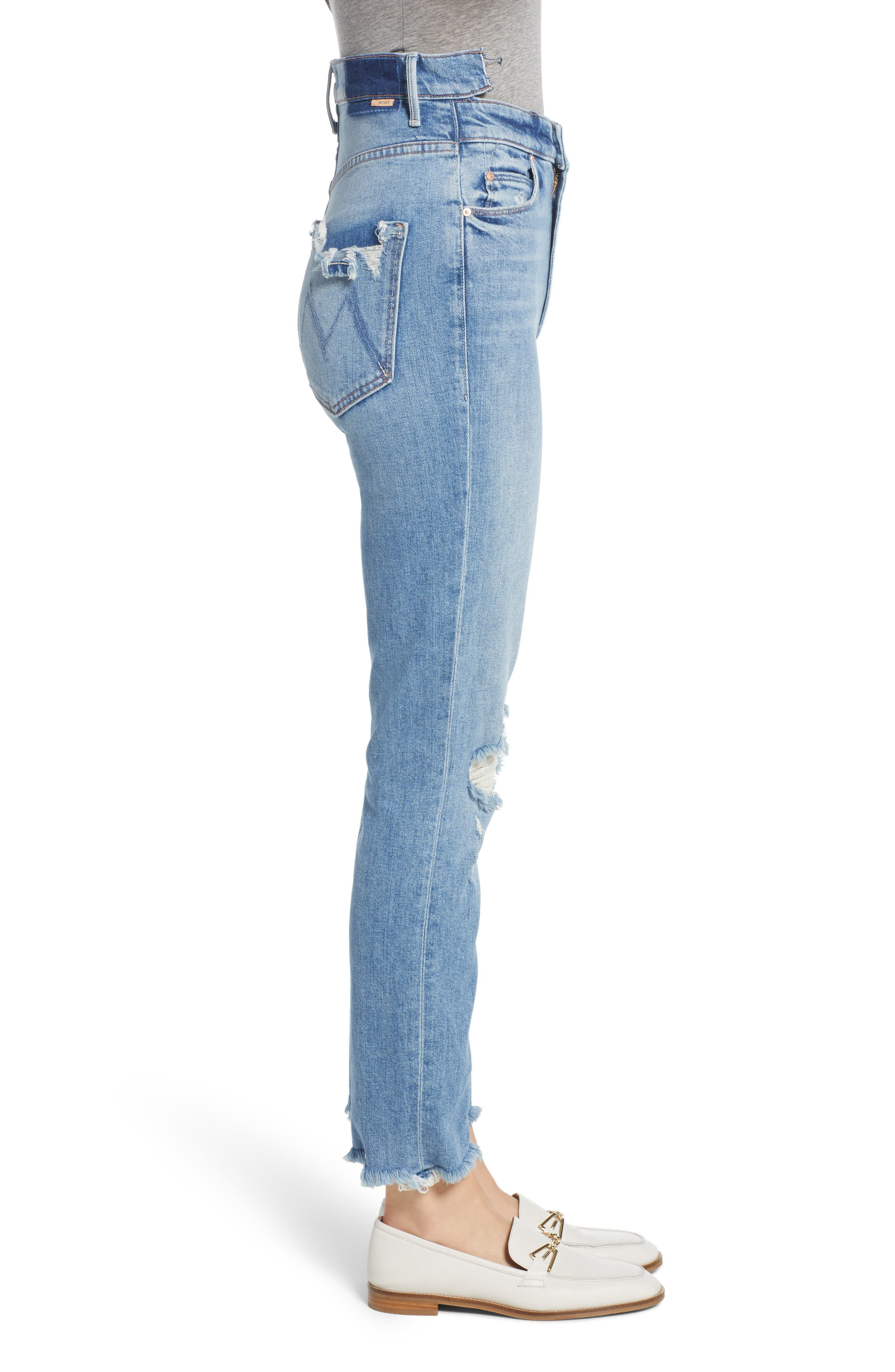 Dazzler Shift Step Waistband Jeans,                             Alternate thumbnail 3, color,                             452