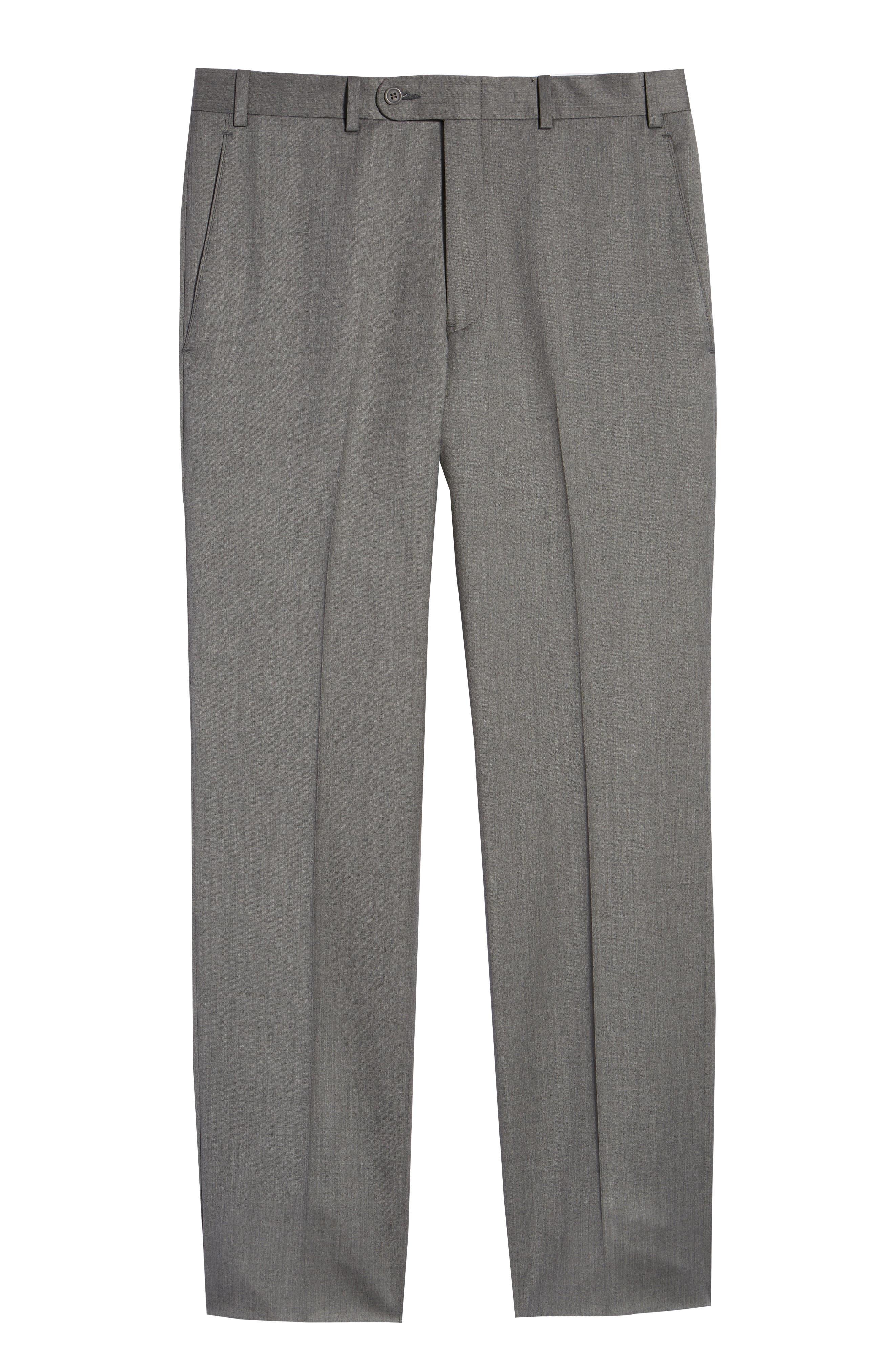 Torino Flat Front Wool Gabardine Trousers,                             Alternate thumbnail 33, color,