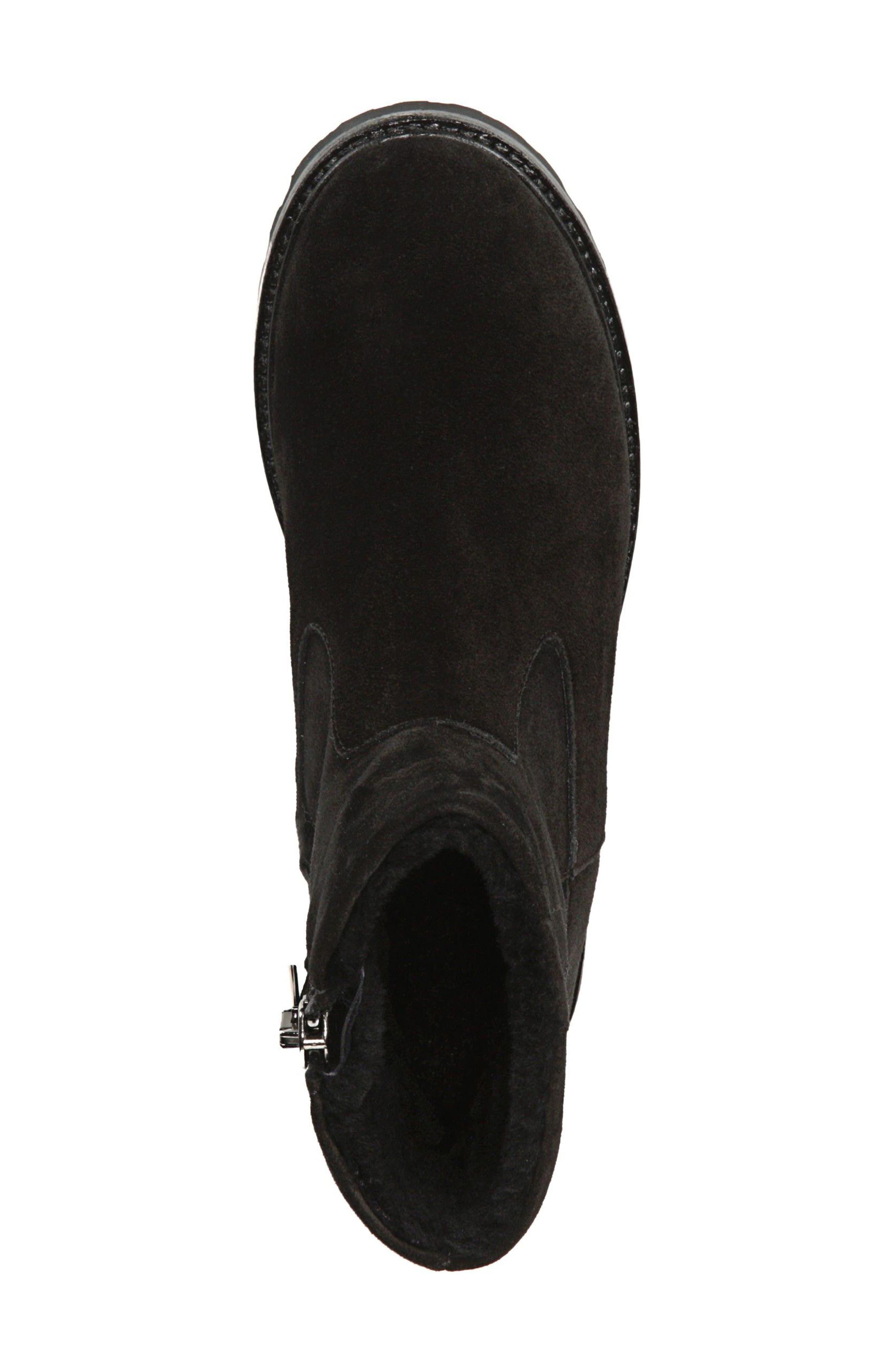 Frances Genuine Shearling Lug Boot,                             Alternate thumbnail 5, color,                             003