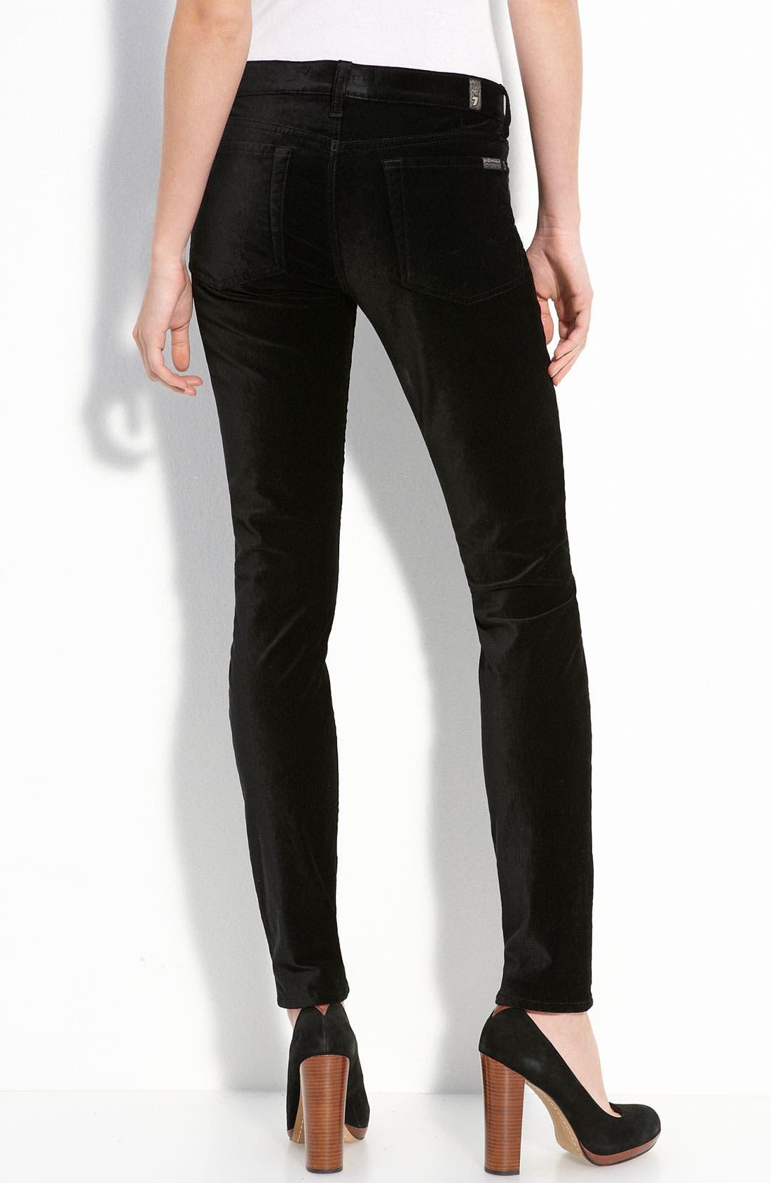 'The Skinny' Stretch Velvet Jeans,                             Main thumbnail 1, color,                             001