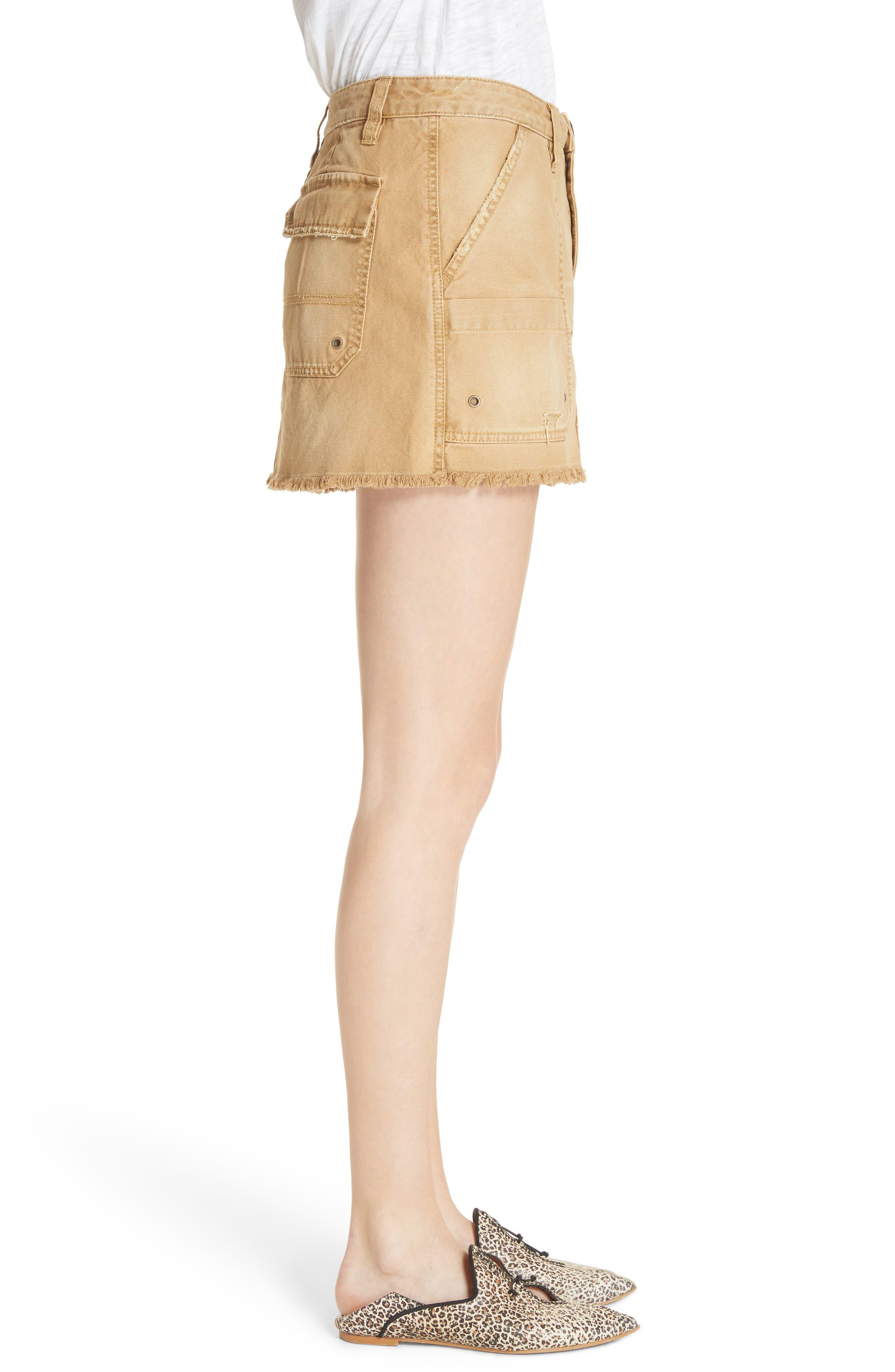 Canvas Miniskirt,                             Alternate thumbnail 7, color,