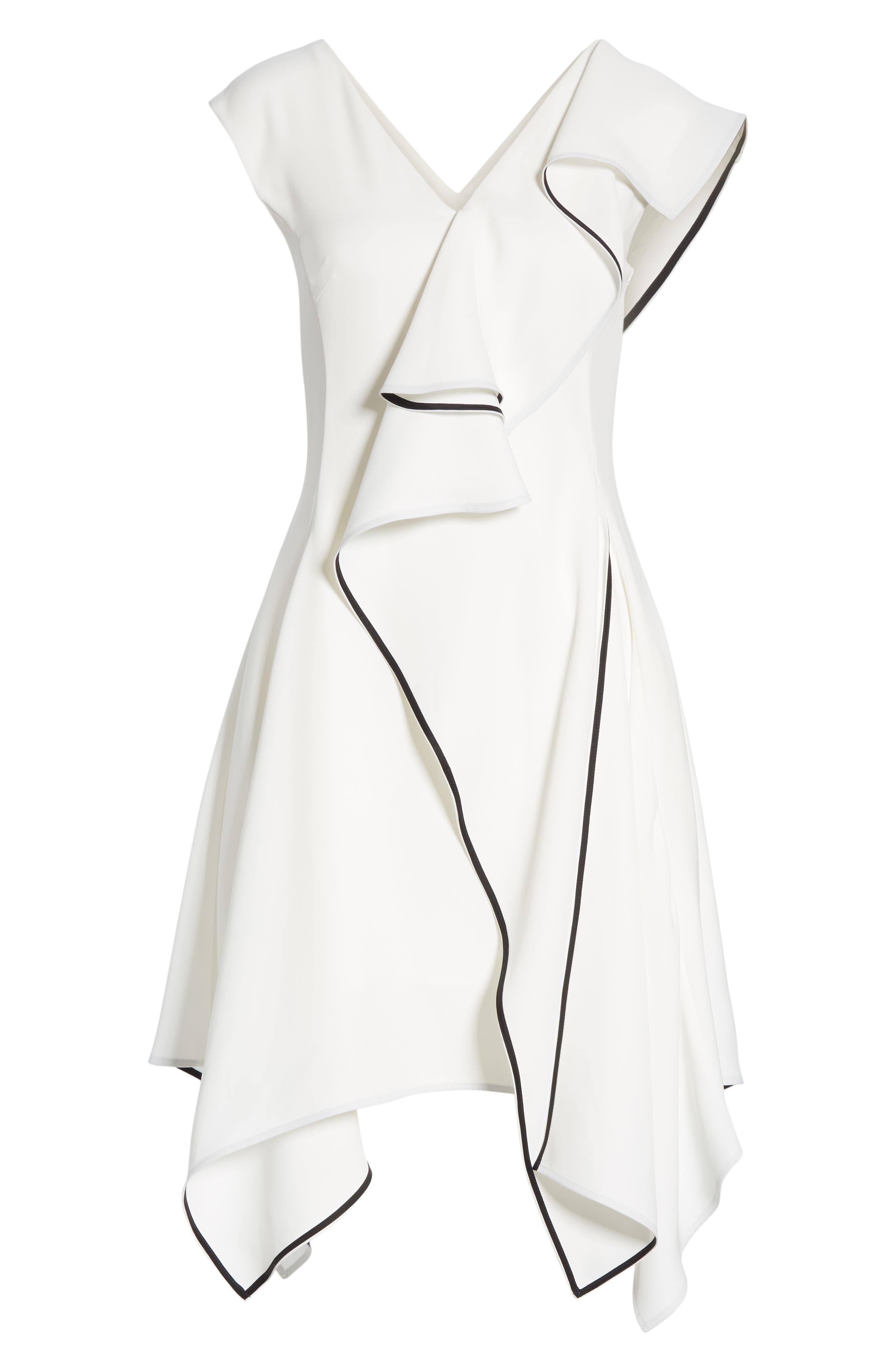Deconstructed Ruffle Dress,                             Alternate thumbnail 7, color,                             WHITE