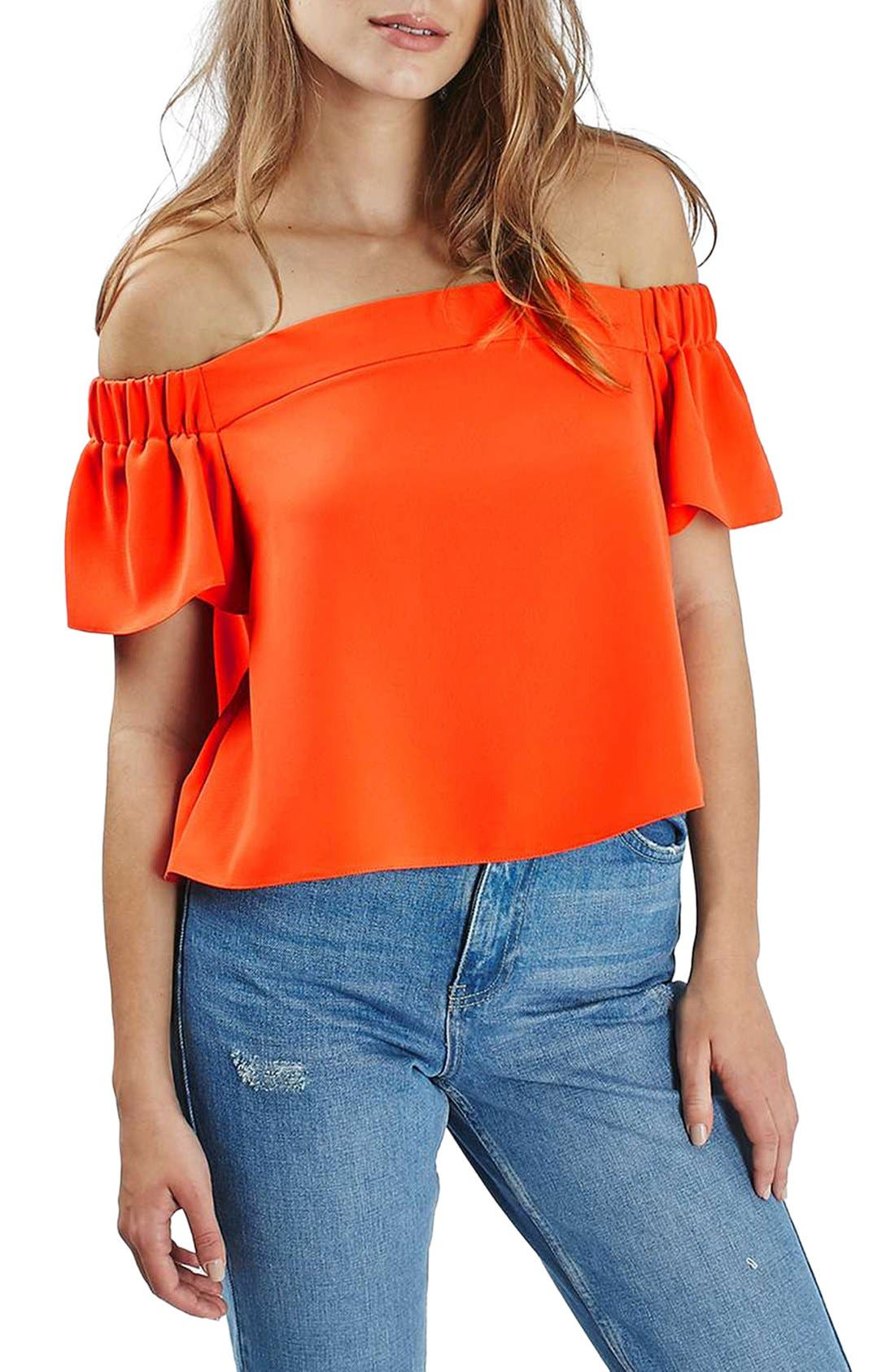 'Livi' Off the Shoulder Top,                             Main thumbnail 7, color,