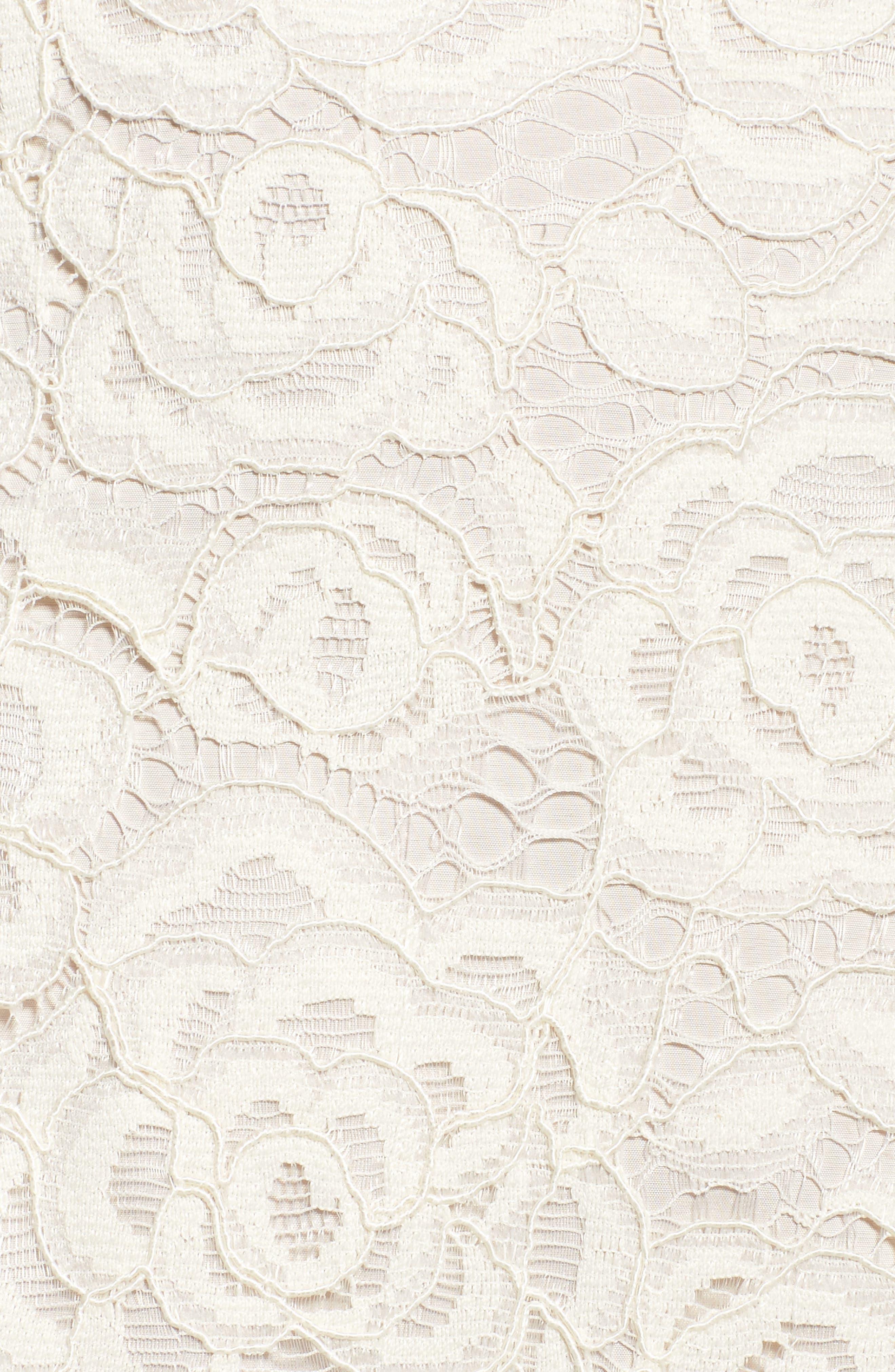 Off the Shoulder Lace Sheath Dress,                             Alternate thumbnail 30, color,