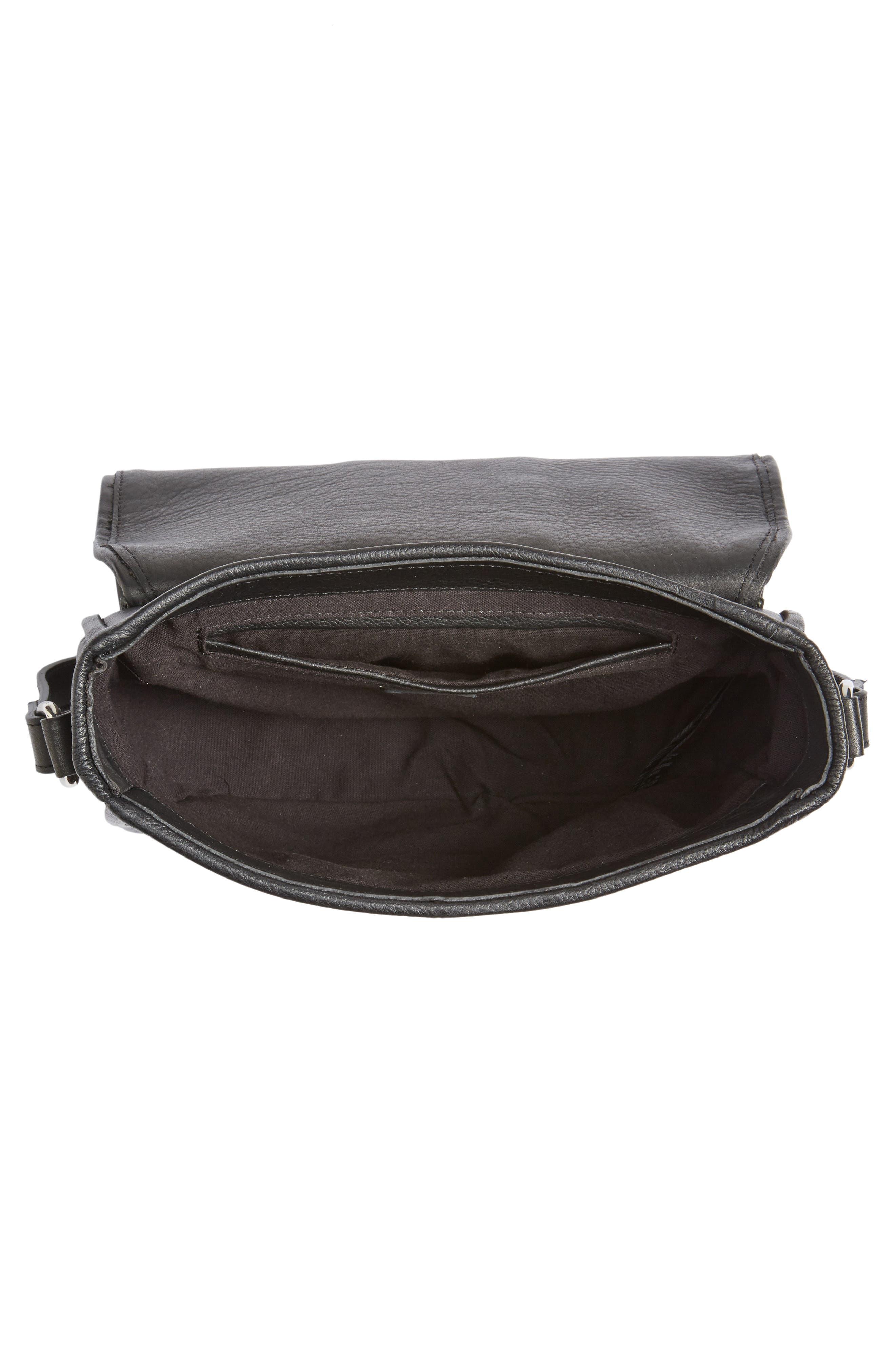 Premium Leather Studded Shoulder Bag,                             Alternate thumbnail 10, color,