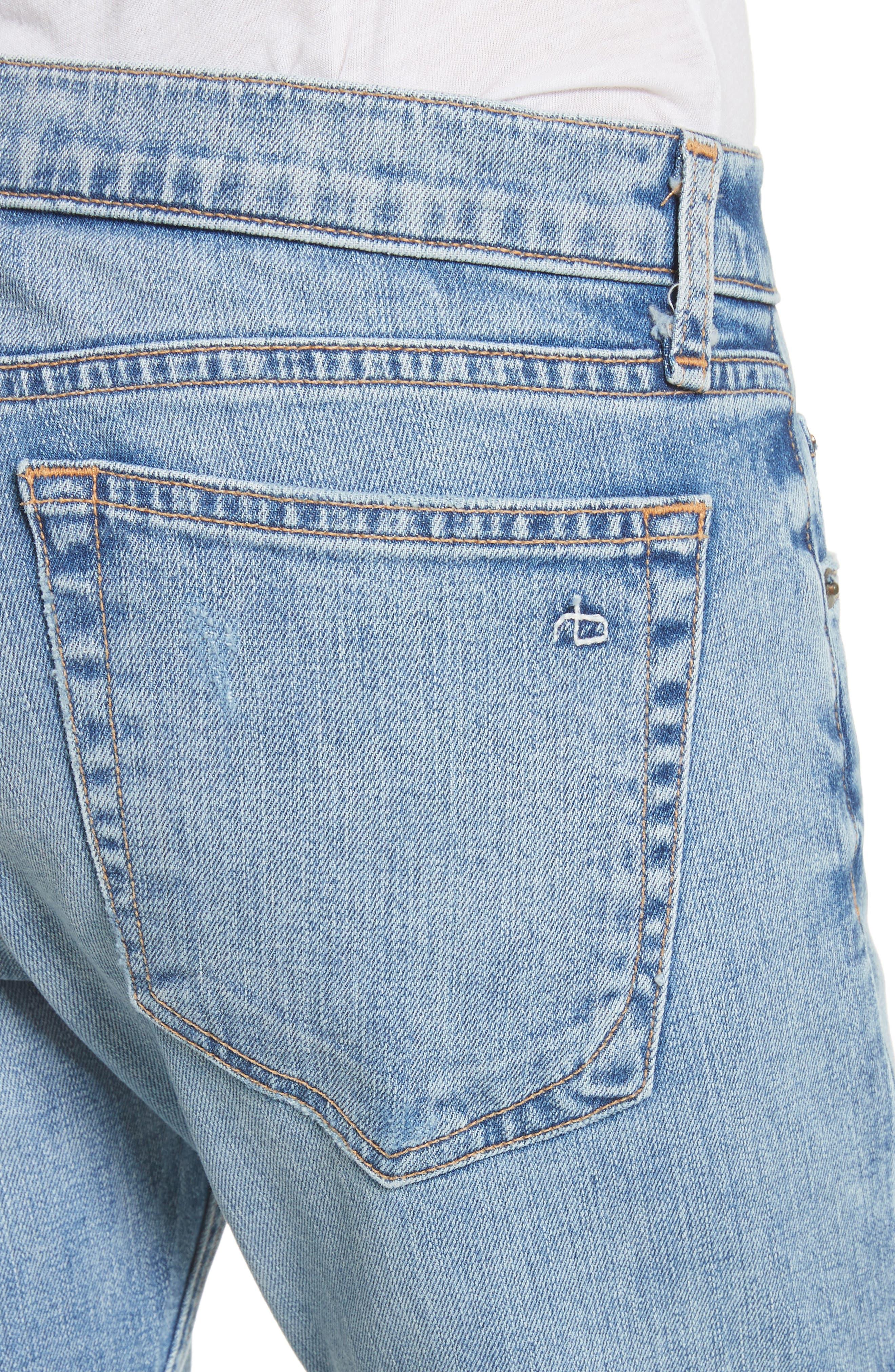 The Dre Ankle Slim Boyfriend Jeans,                             Alternate thumbnail 4, color,                             420