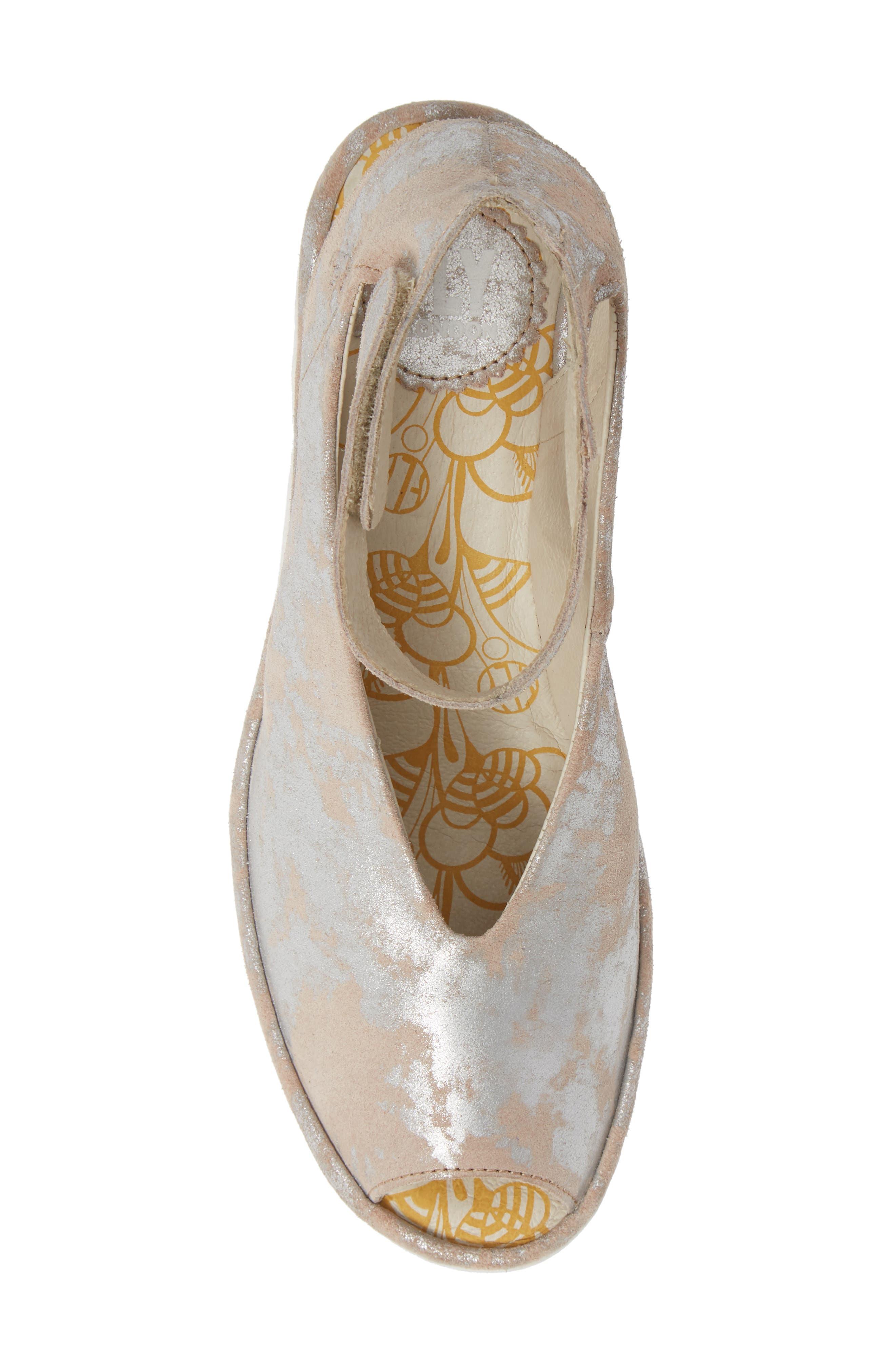 'Yala' Sandal,                             Alternate thumbnail 5, color,                             ROSE LEATHER