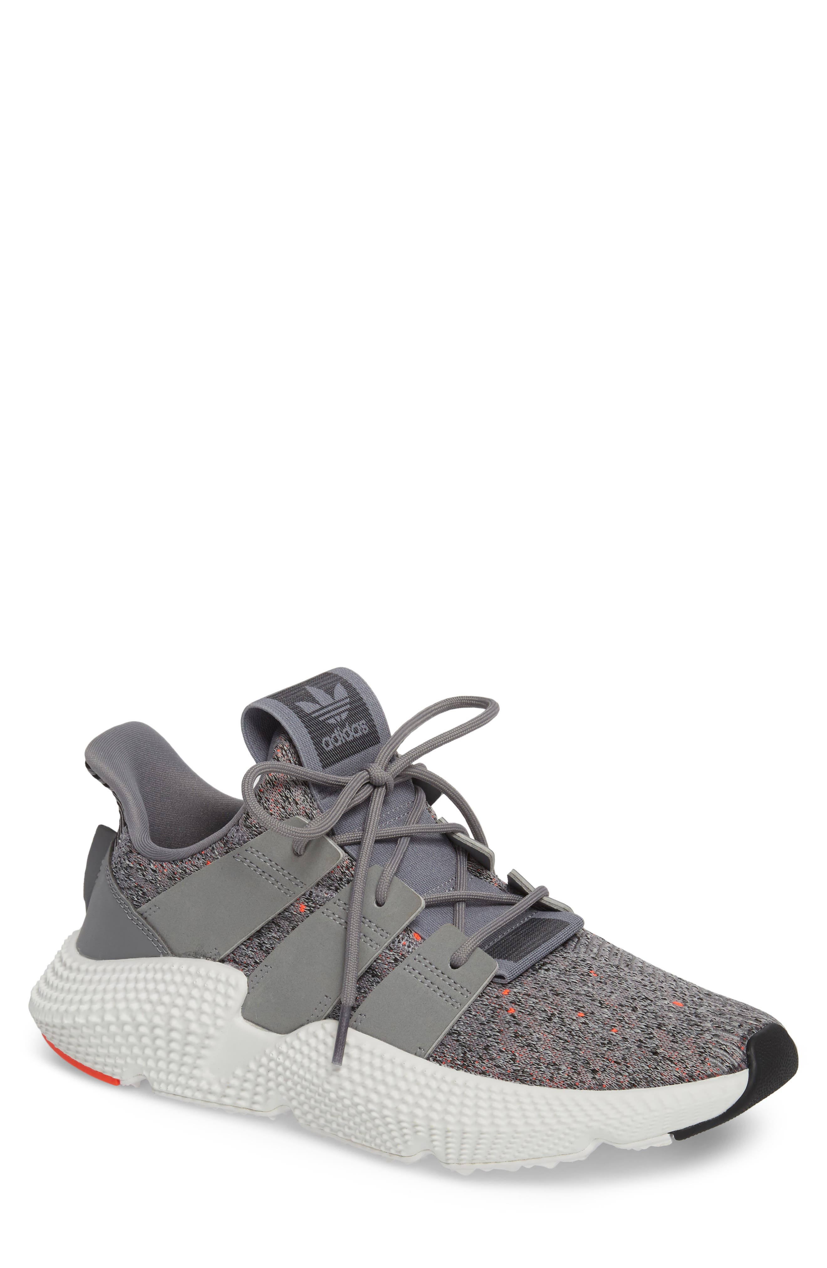 Prophere Sneaker,                         Main,                         color, GREY/ WHITE/ SOLAR RED