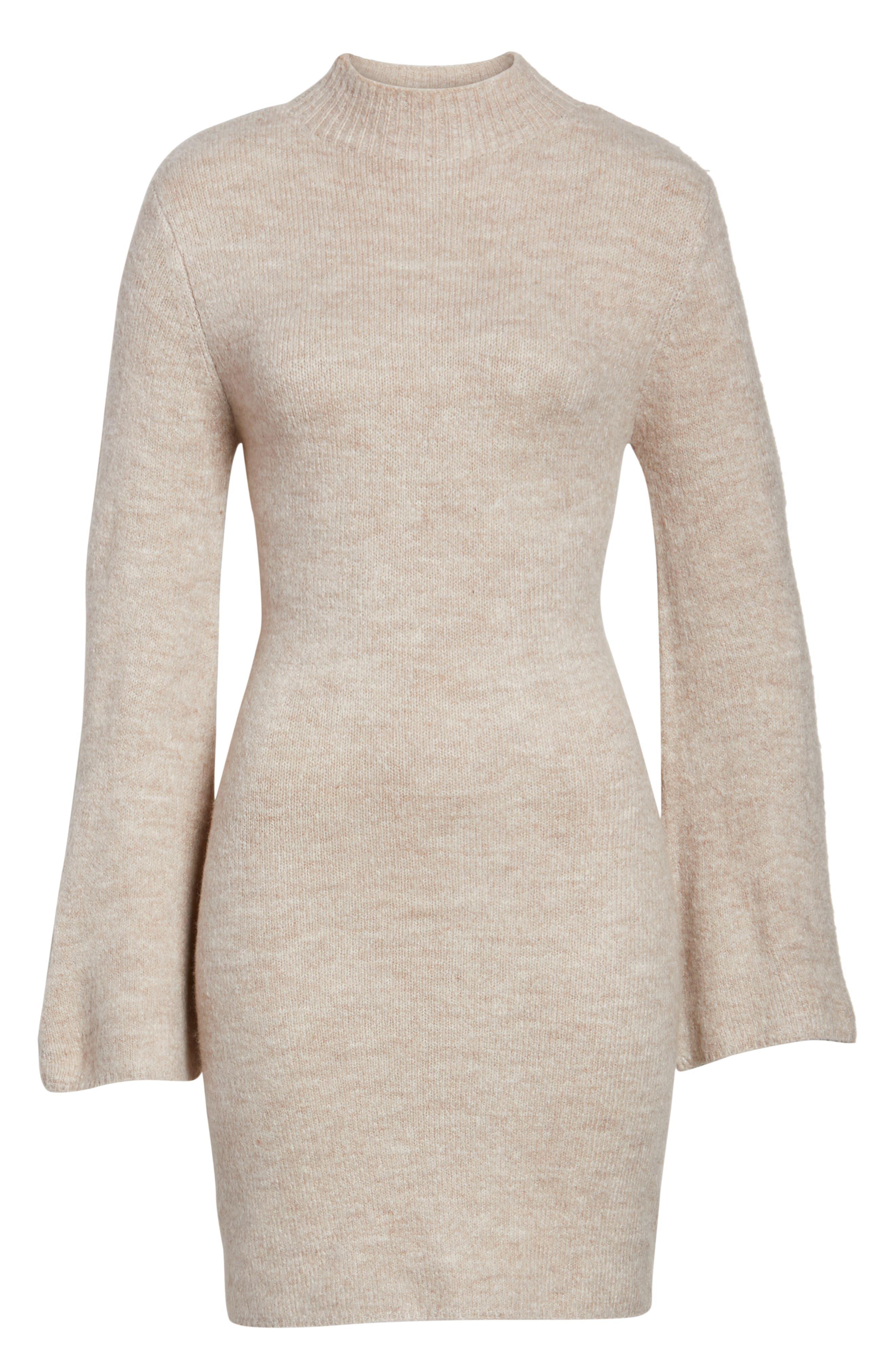 Bell Sleeve Knit Dress,                             Alternate thumbnail 12, color,