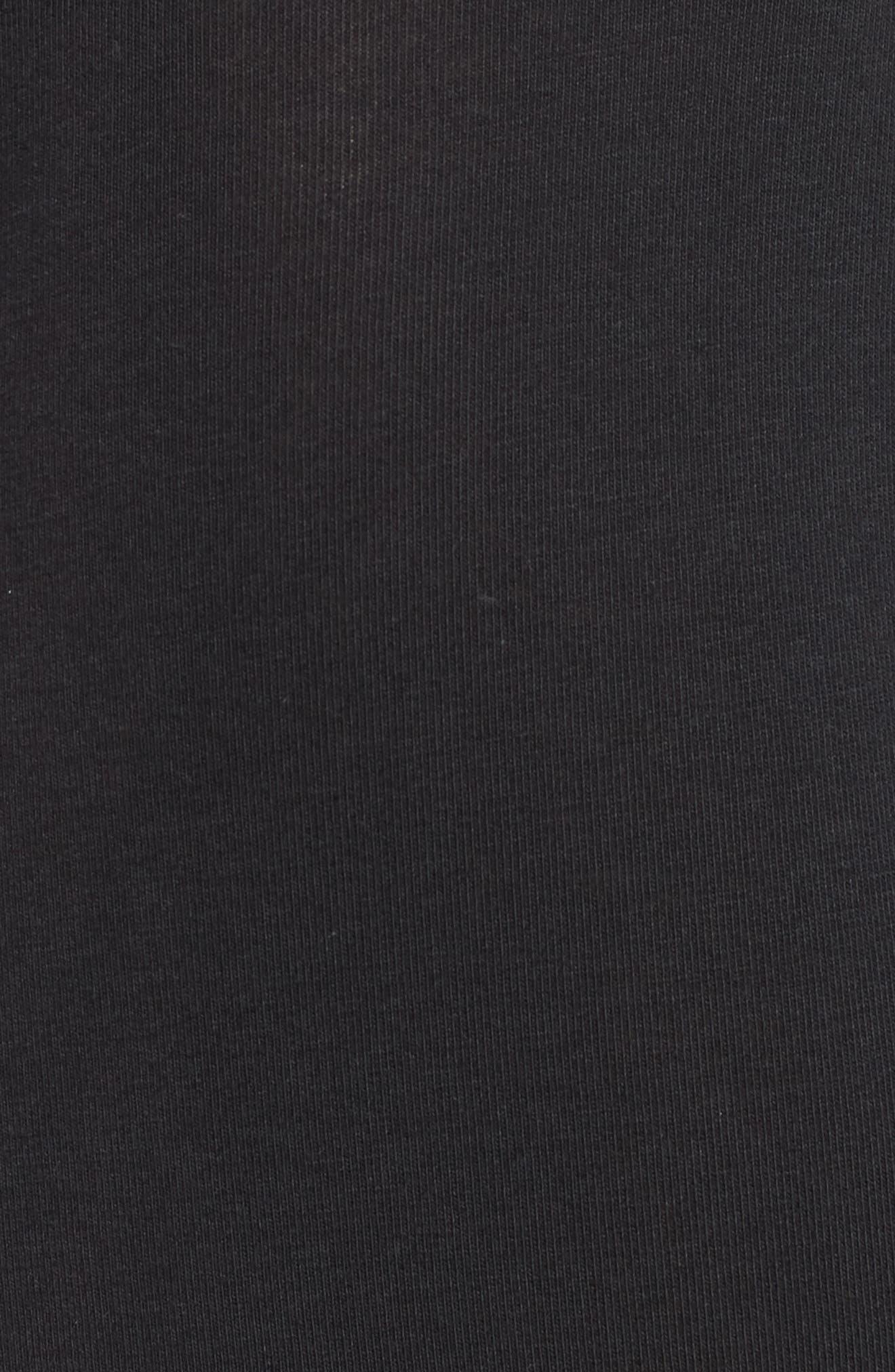 Cotton Trunks,                             Alternate thumbnail 5, color,                             BLACK W/ WHITE PATCH