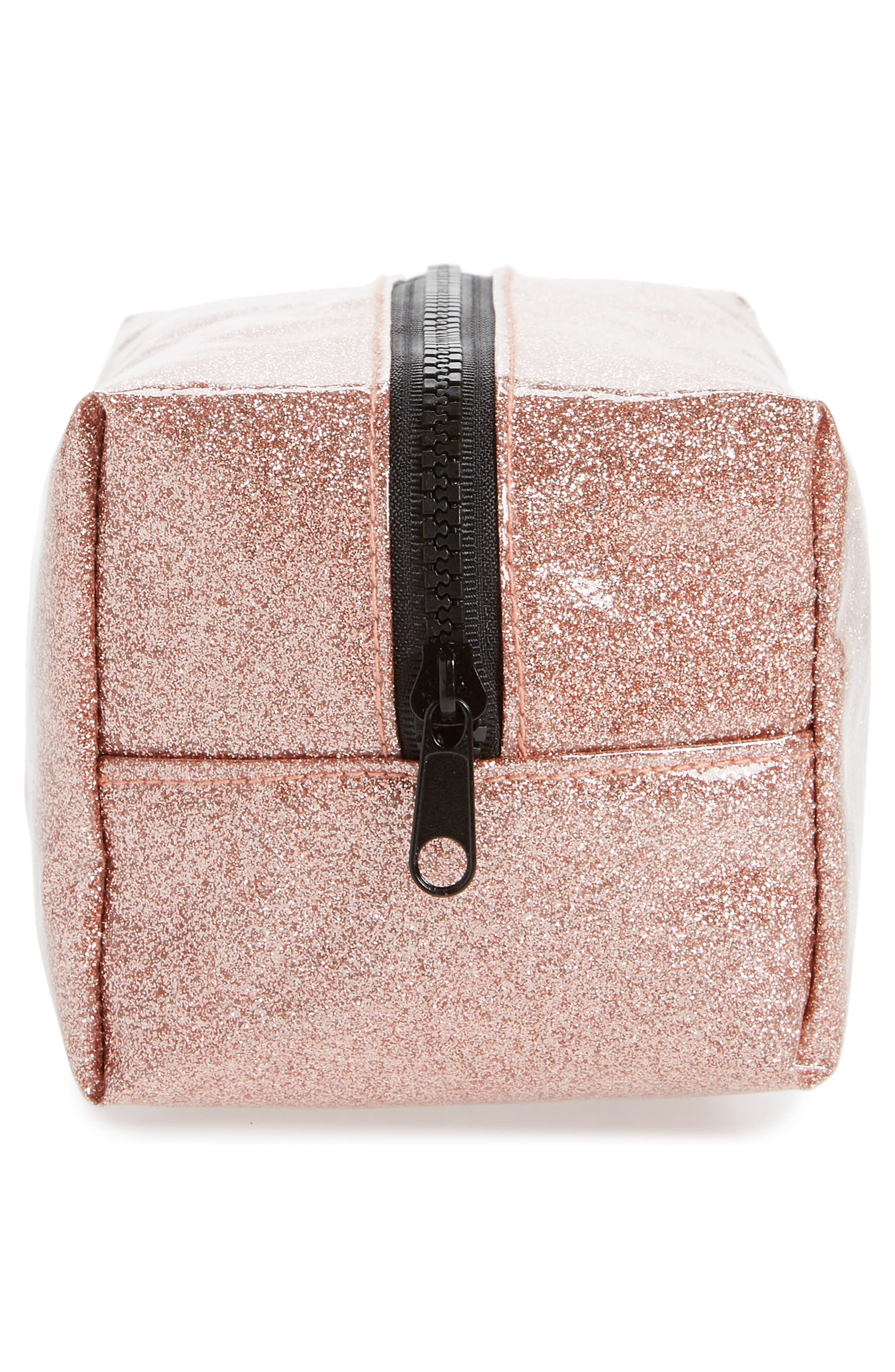 Cosmetics Case,                             Alternate thumbnail 4, color,                             ROSE GOLD