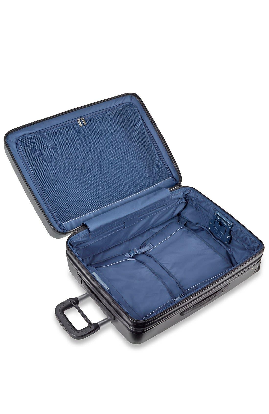 'Sympatico' Expandable Wheeled Packing Case,                             Alternate thumbnail 4, color,                             BLACK