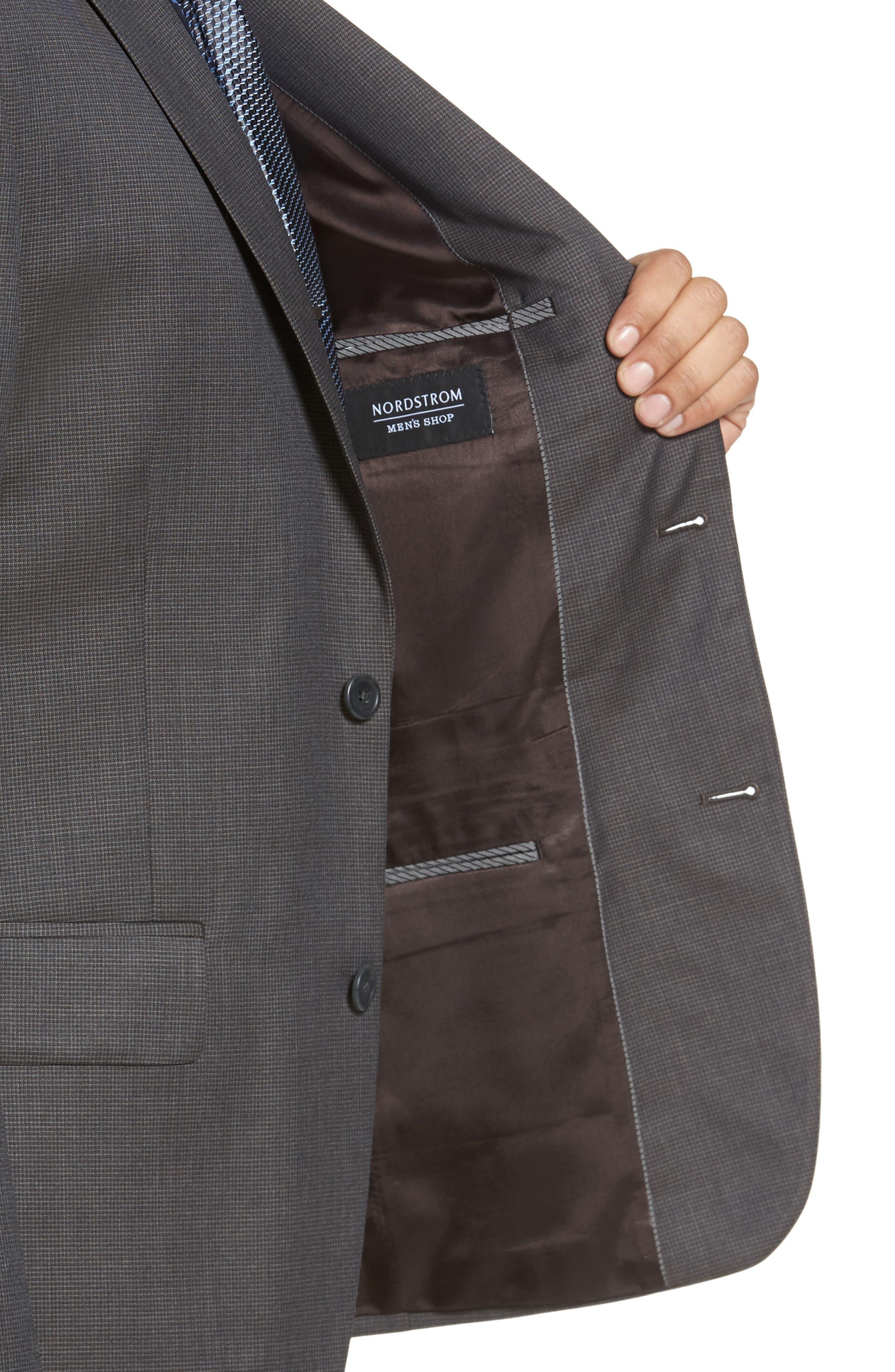 Classic Fit Check Wool Suit,                             Alternate thumbnail 14, color,