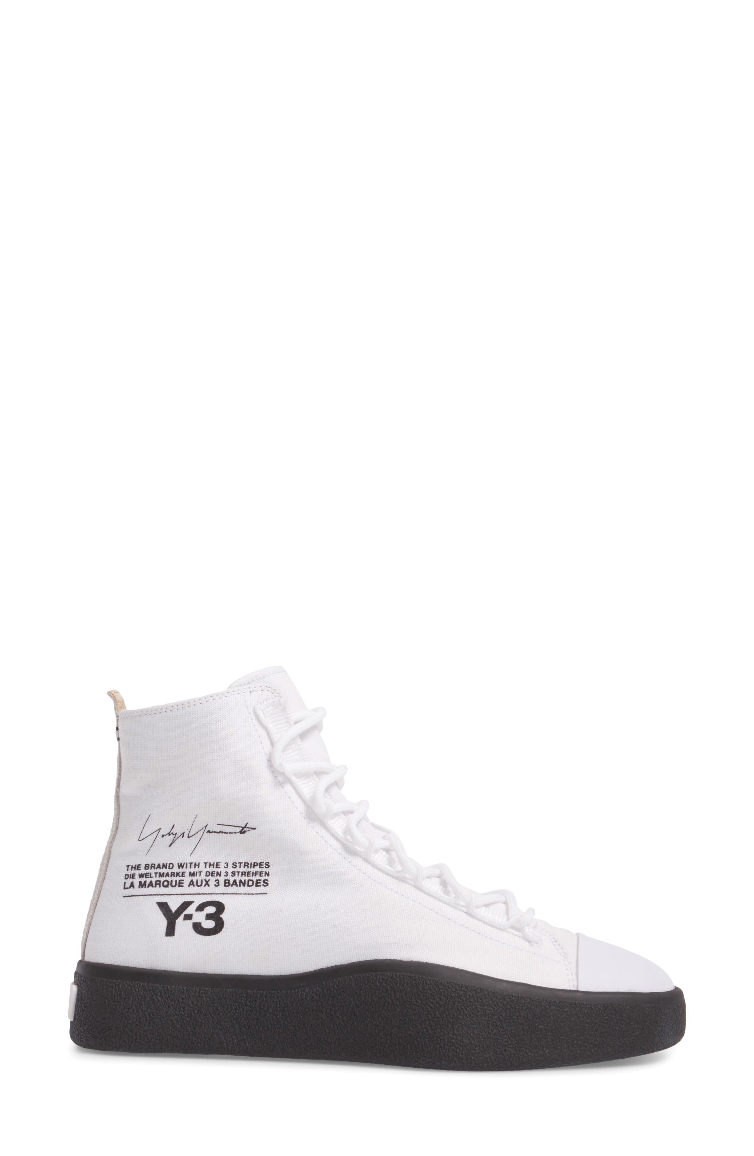 Bashyo High Top Sneaker,                             Alternate thumbnail 3, color,                             100