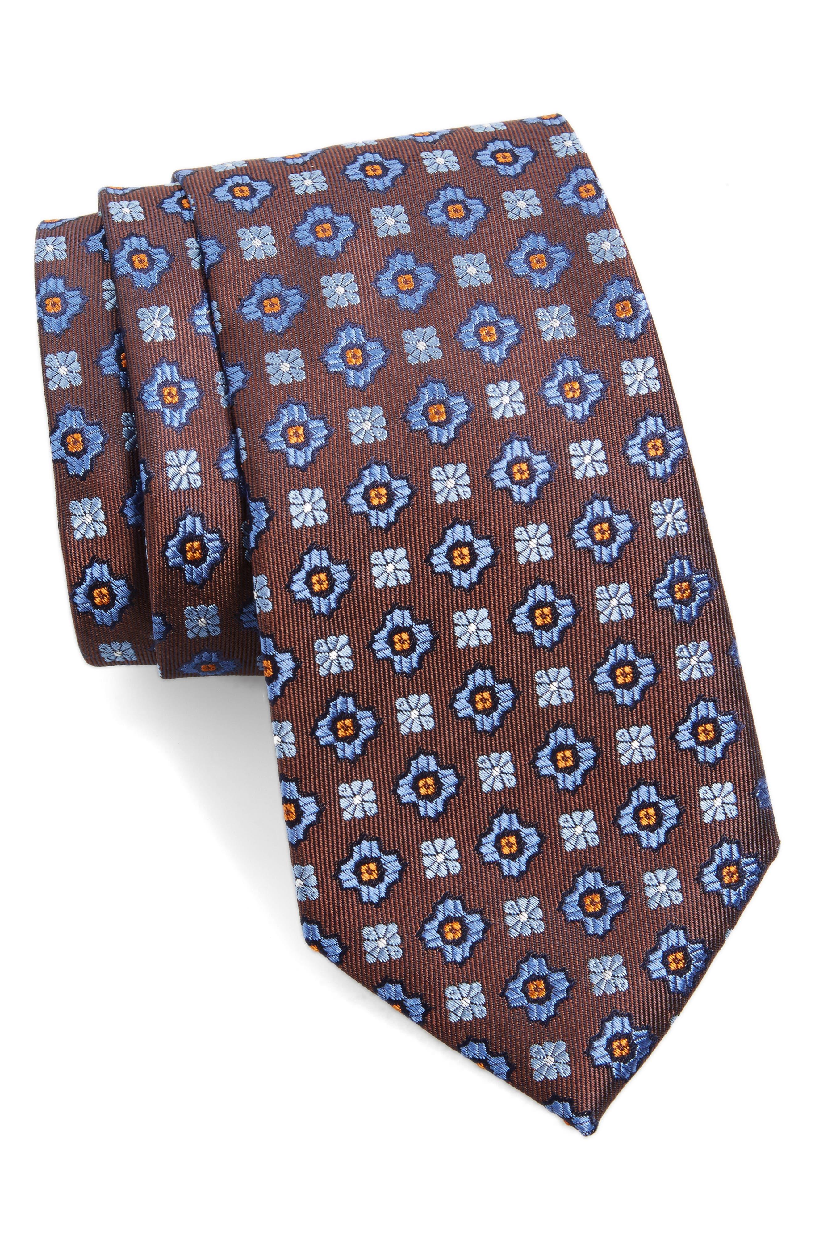 Medallion Silk Tie,                             Main thumbnail 1, color,                             200
