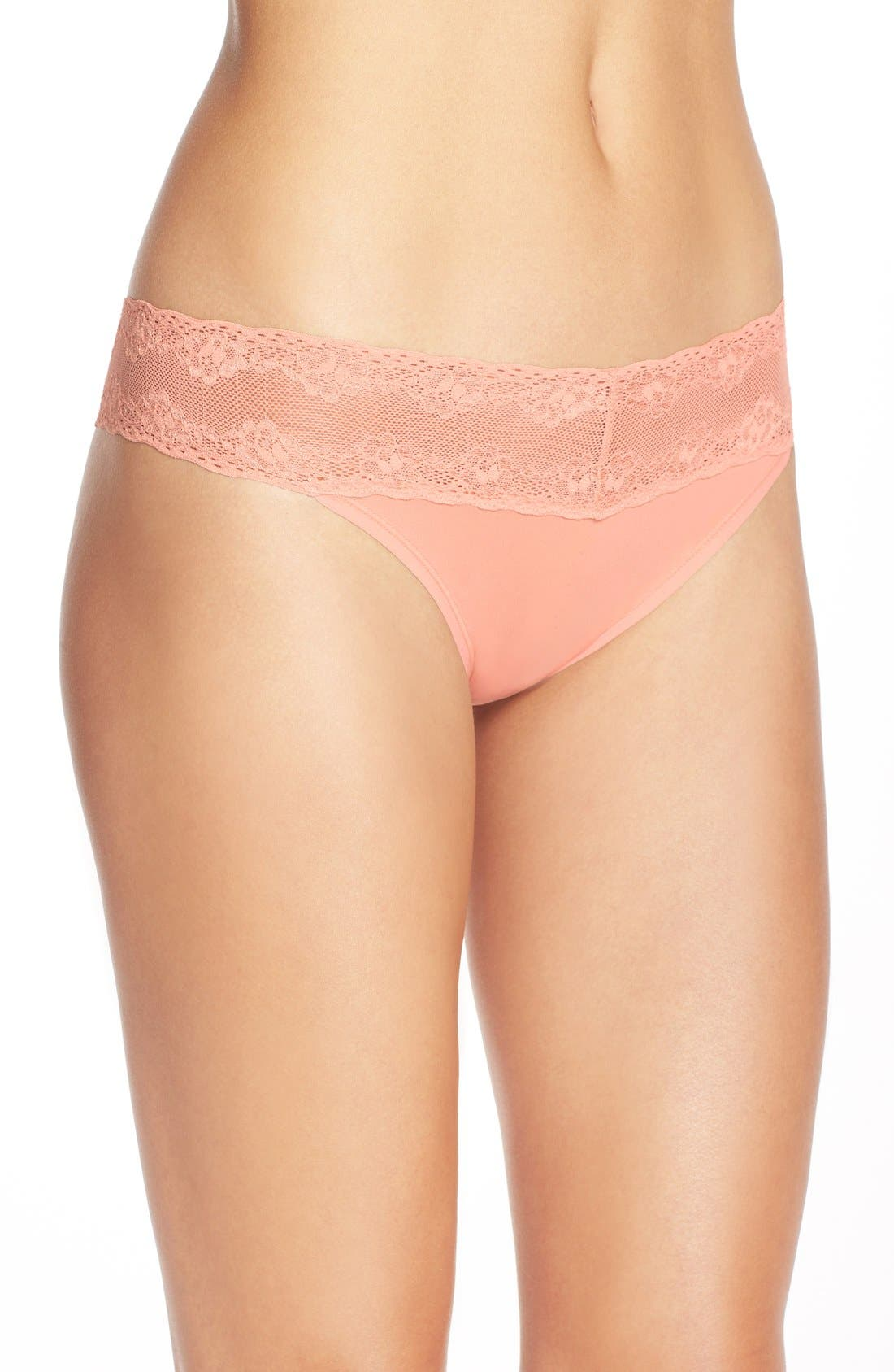 Bliss Perfection Thong,                             Alternate thumbnail 154, color,