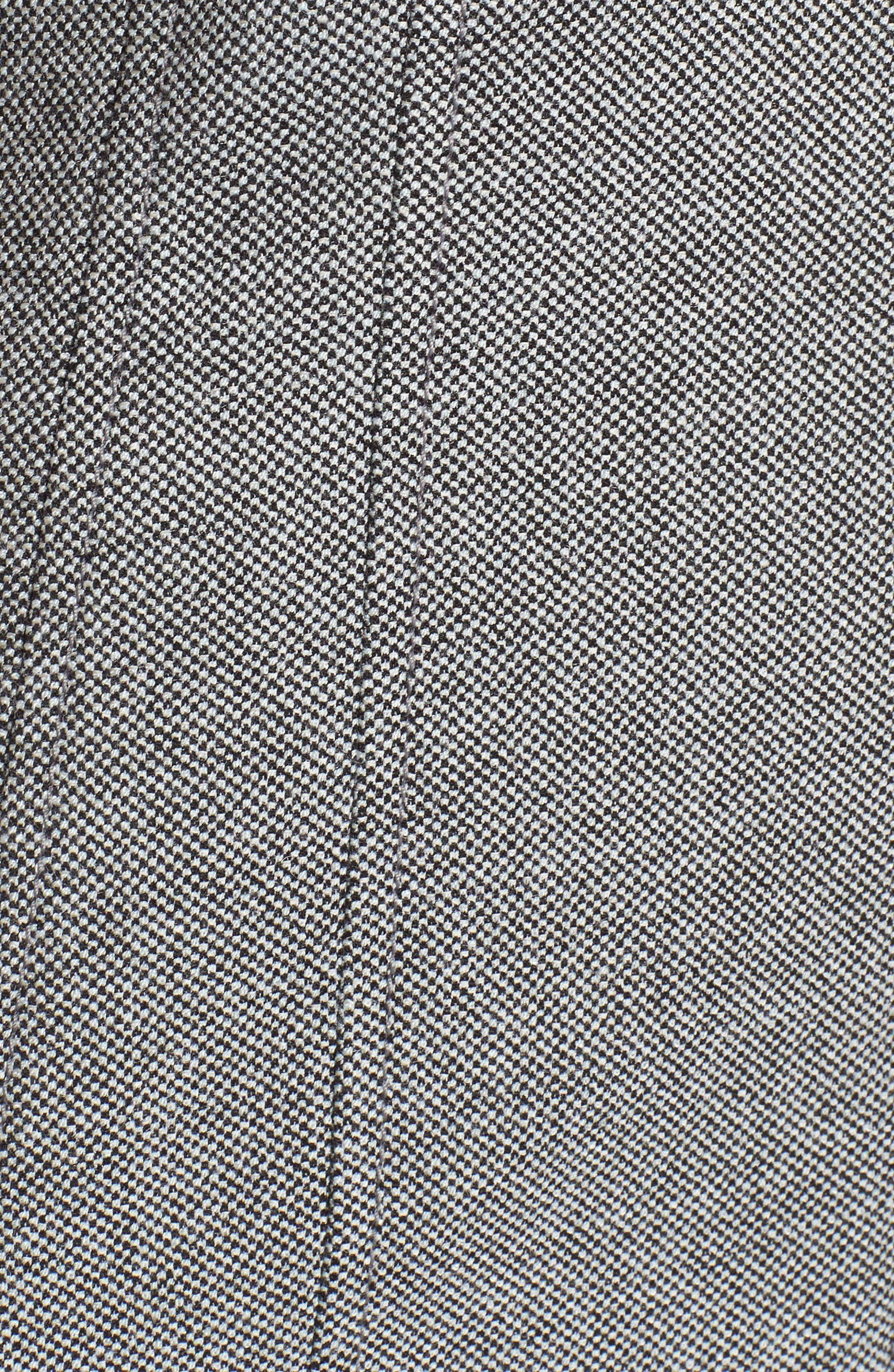 Demirana Zip Front Sheath Dress,                             Alternate thumbnail 5, color,