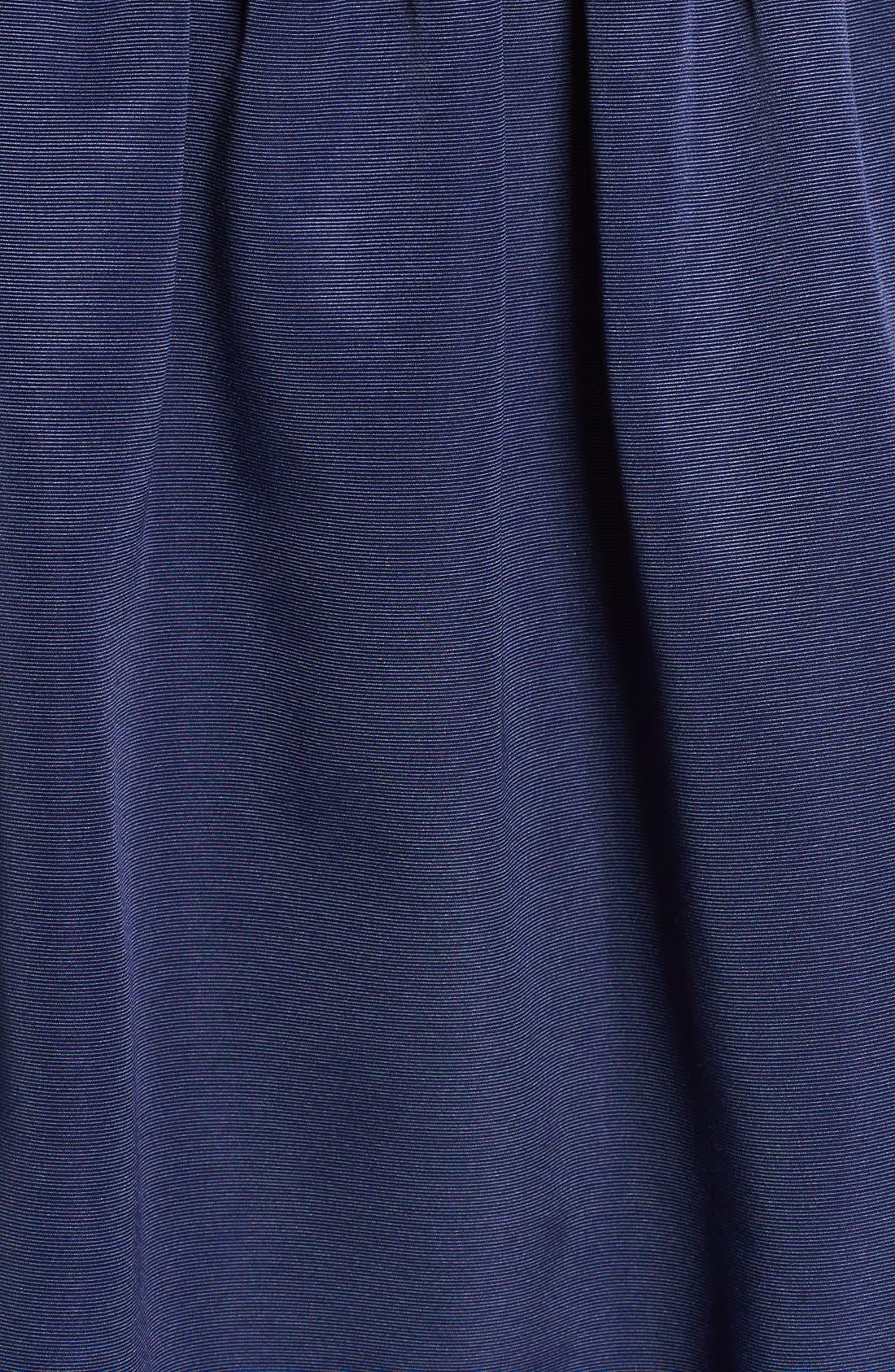Lace & Faille Dress,                             Alternate thumbnail 4, color,