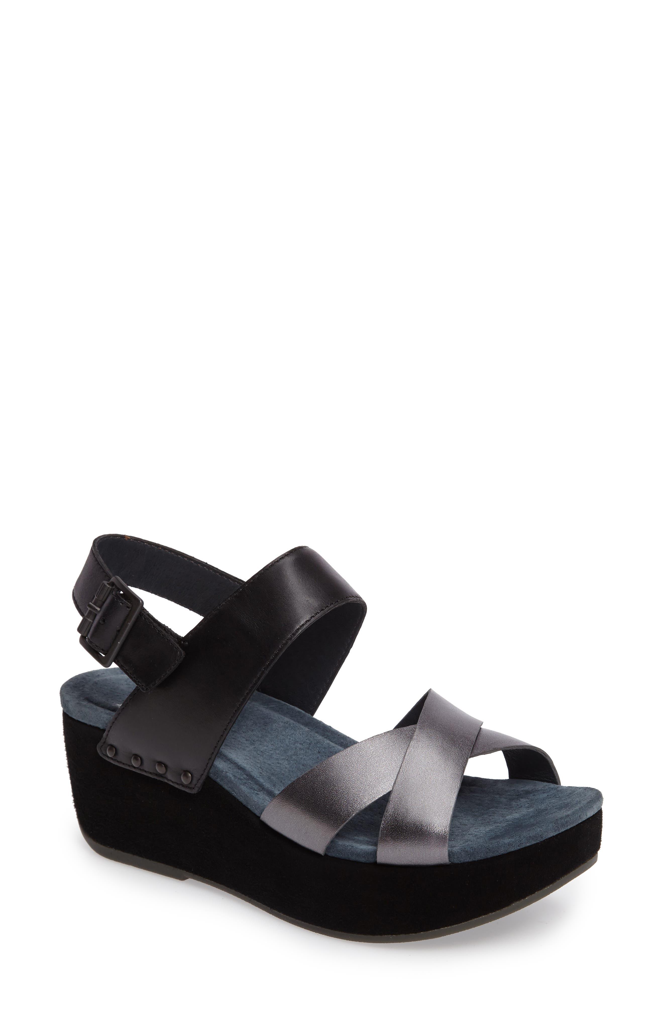 Stasia Platform Wedge Sandal,                         Main,                         color, 001