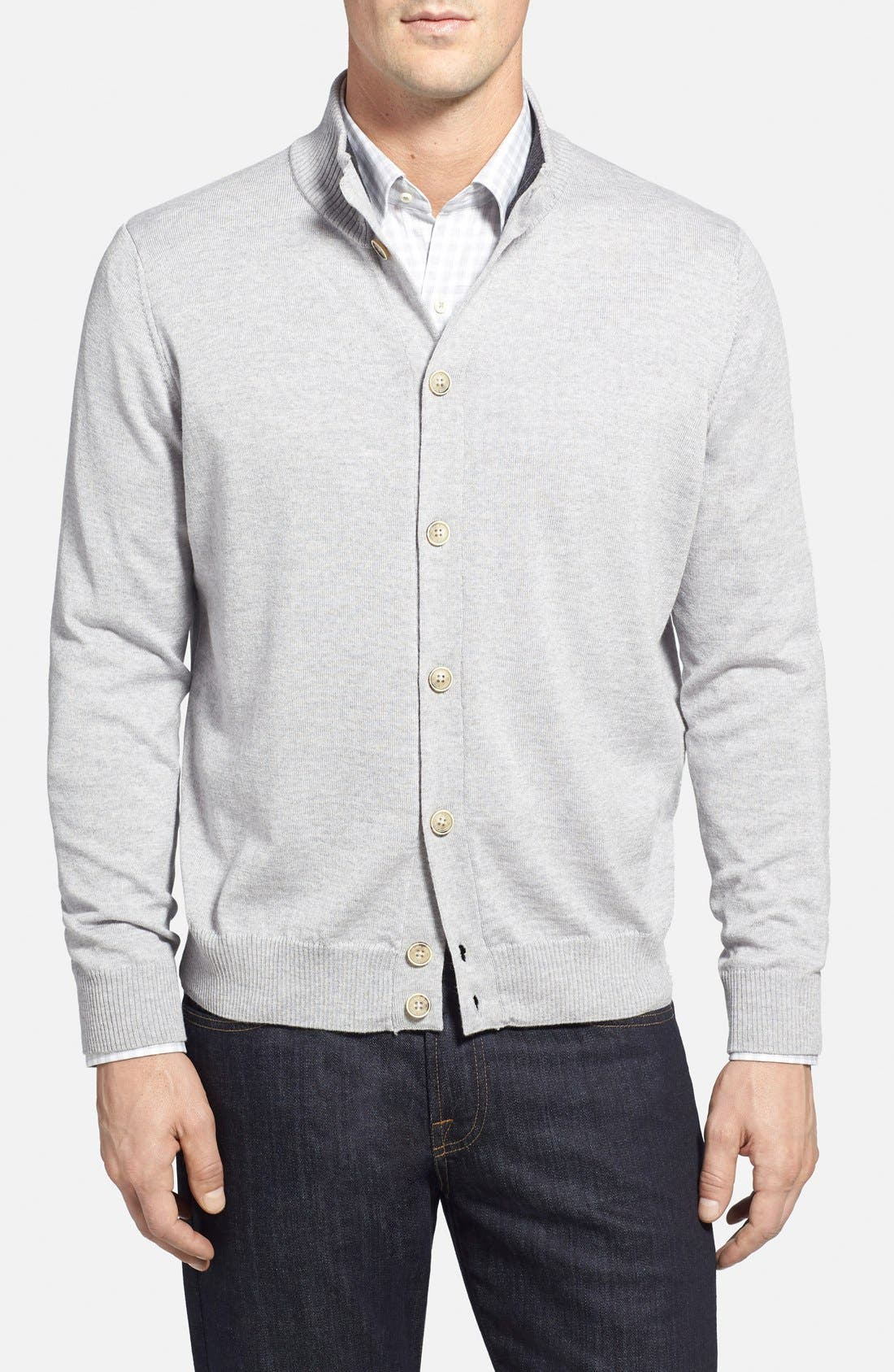 Italian Merino Wool Cardigan Sweater,                             Main thumbnail 1, color,                             050