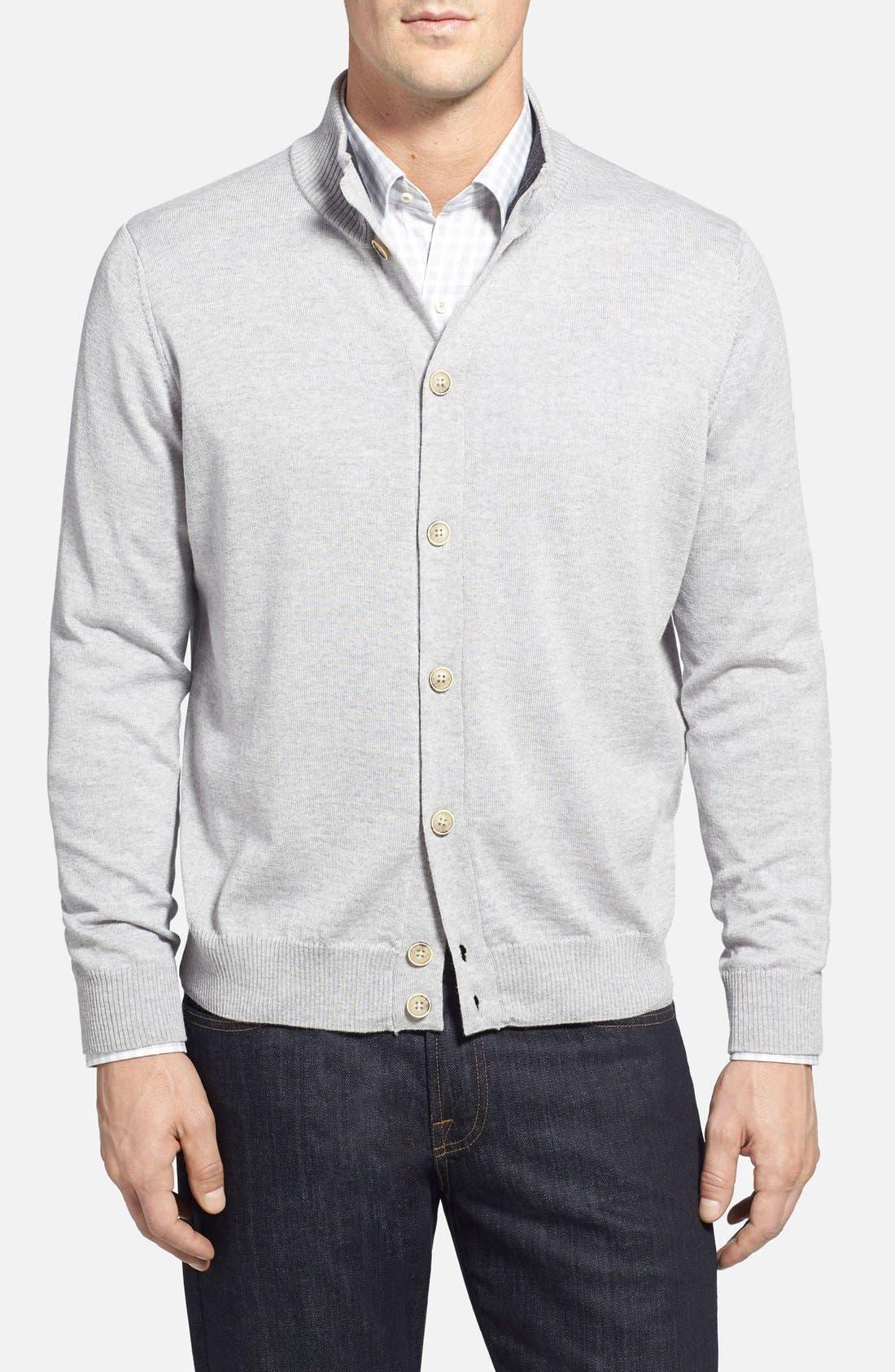 Italian Merino Wool Cardigan Sweater, Main, color, 050