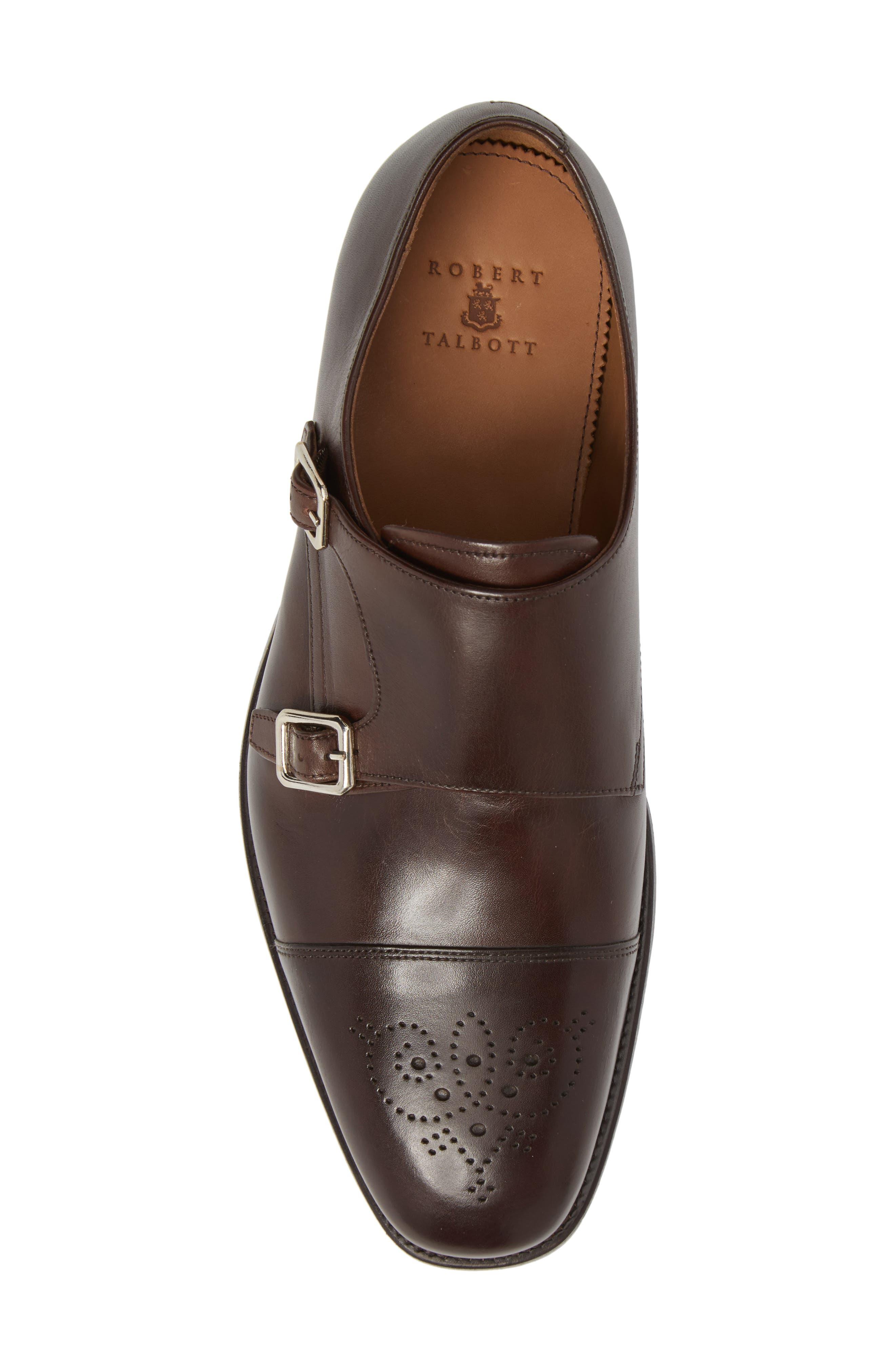 Sausalito Double Monk Strap Shoe,                             Alternate thumbnail 5, color,                             COFFEE