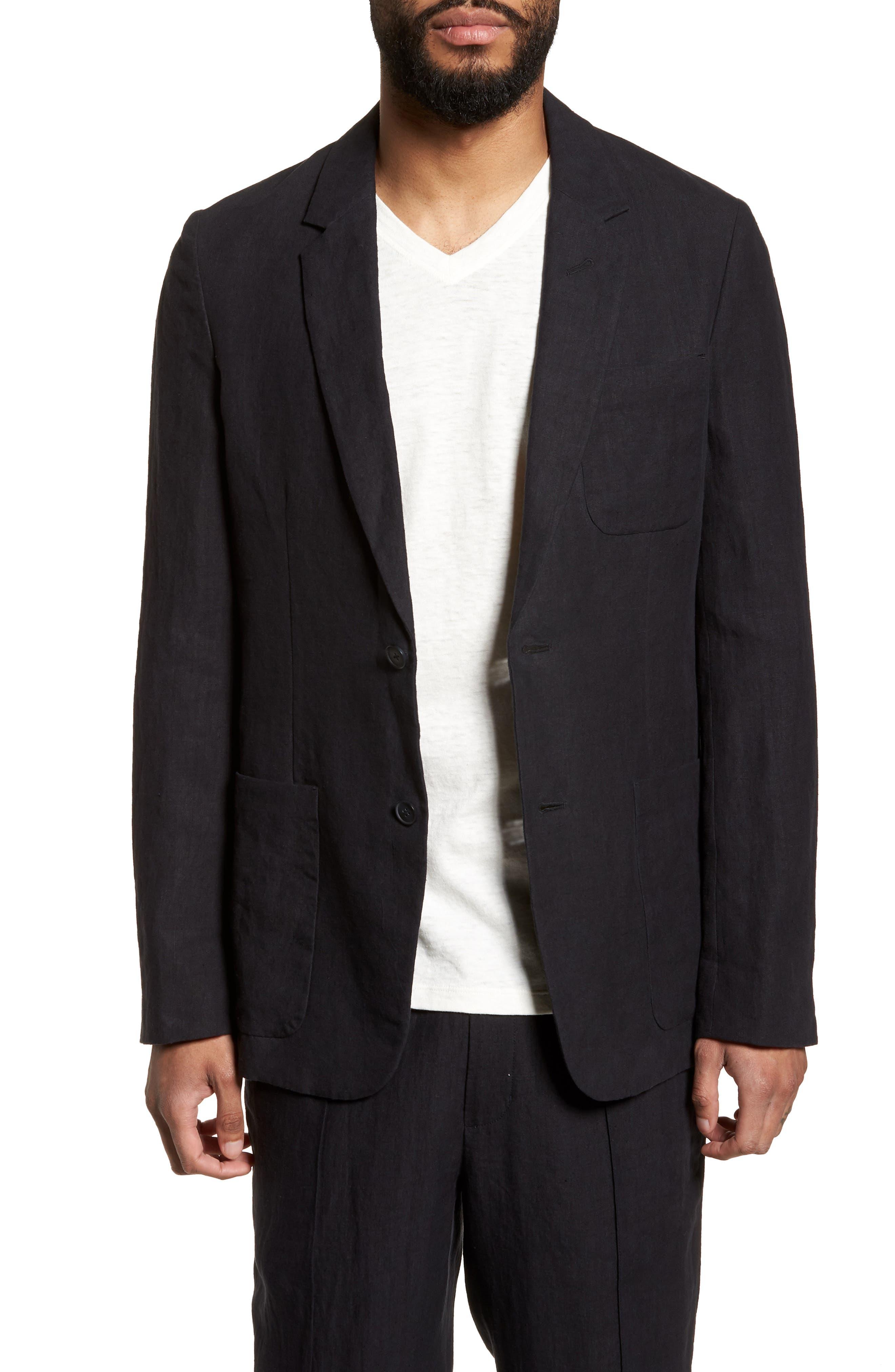 Slim Fit Hemp Blazer,                         Main,                         color, 400