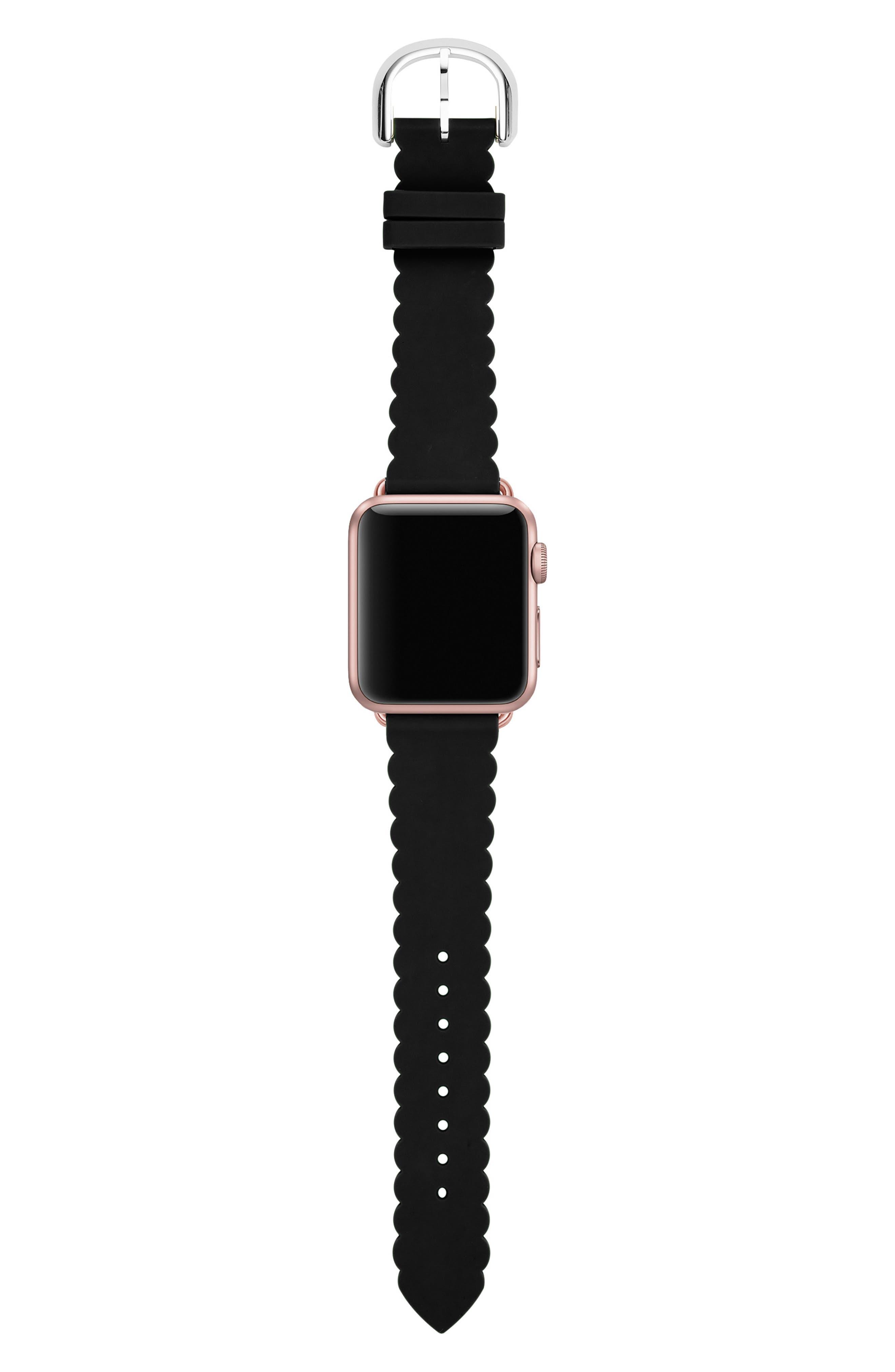 Apple<sup>®</sup> Watch strap, 42mm,                             Main thumbnail 1, color,                             BLACK