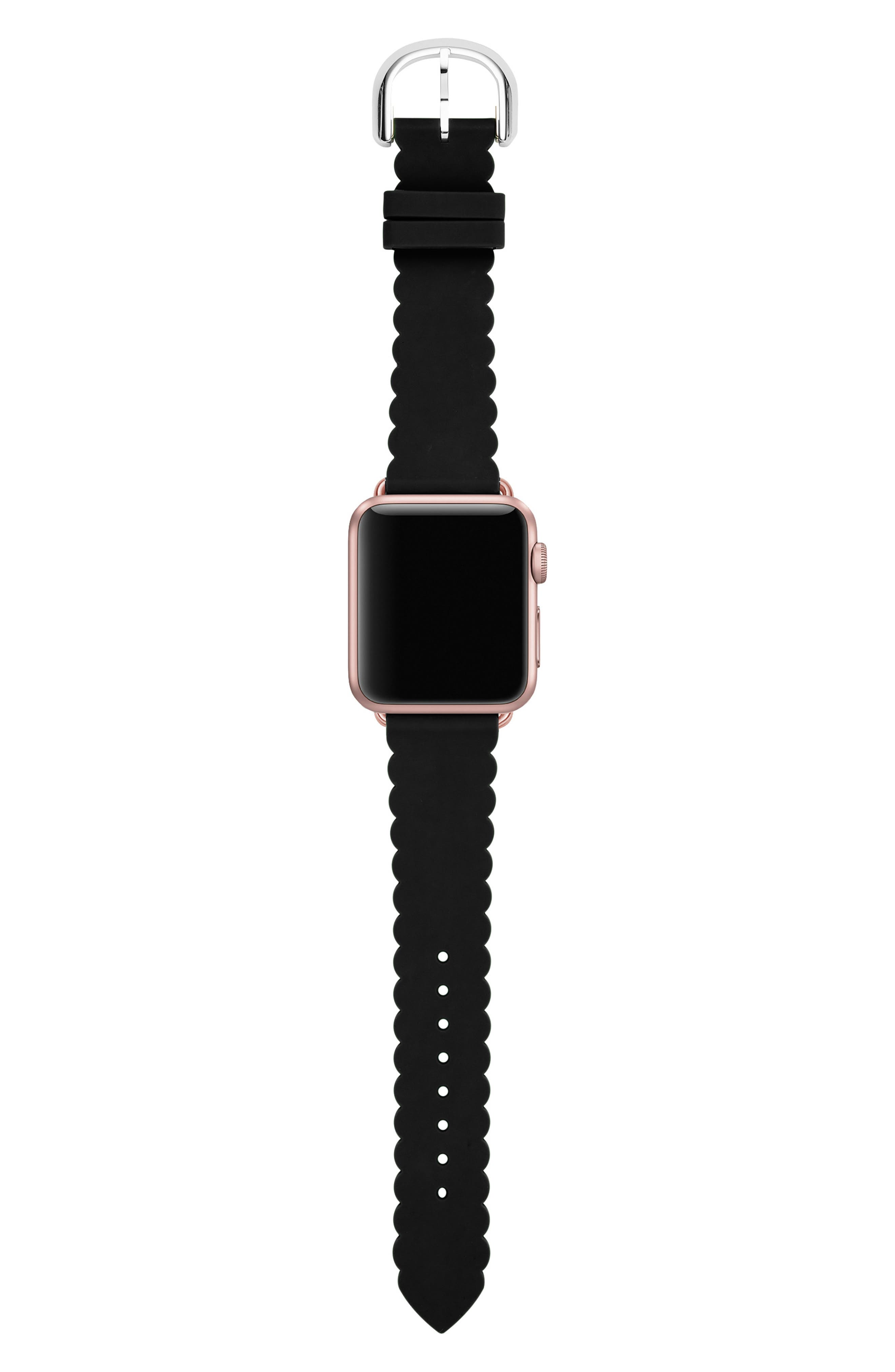 Apple<sup>®</sup> Watch strap, 42mm, Main, color, BLACK