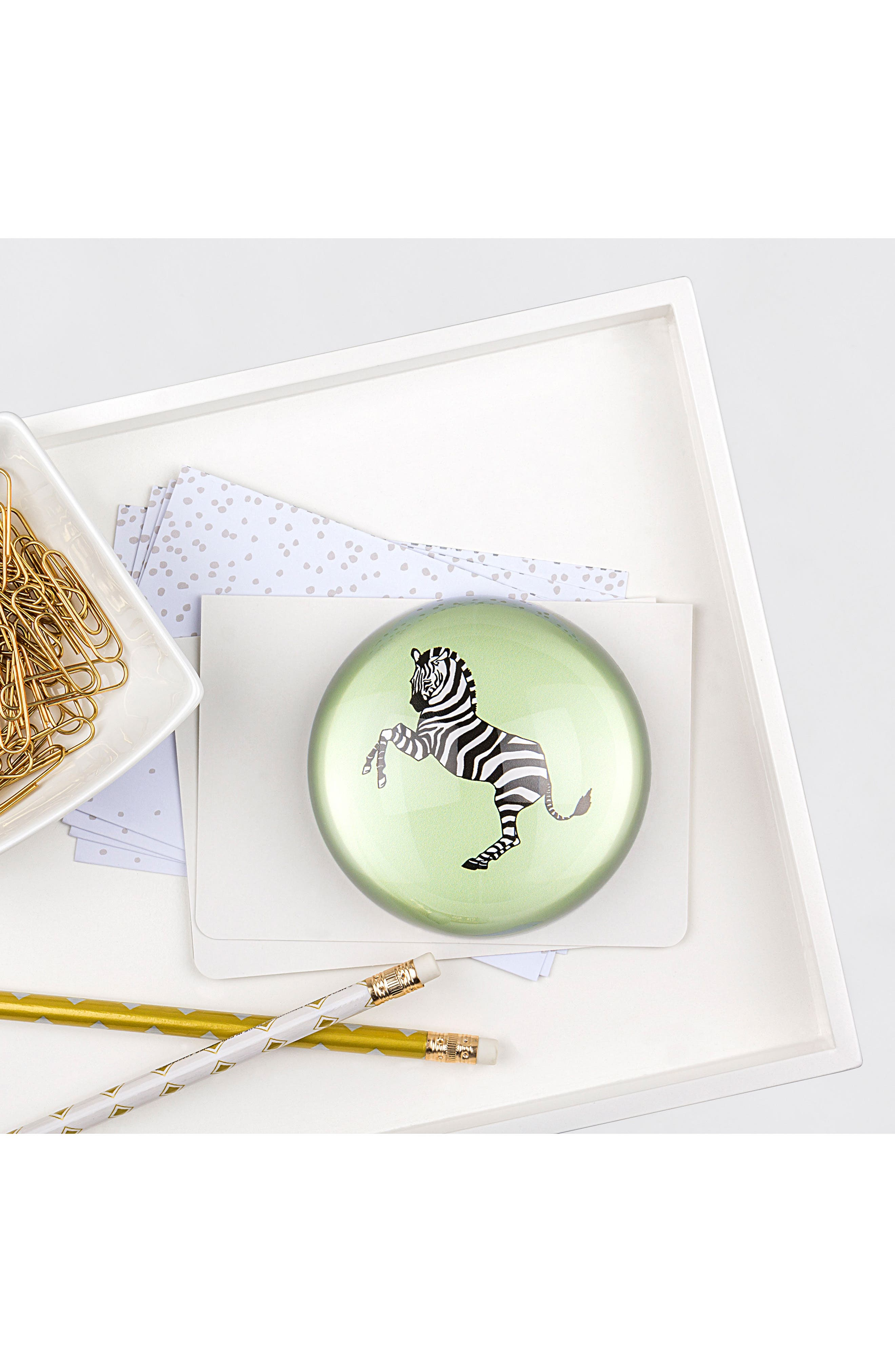 Zebra Domed Glass Paperweight,                             Alternate thumbnail 4, color,                             300