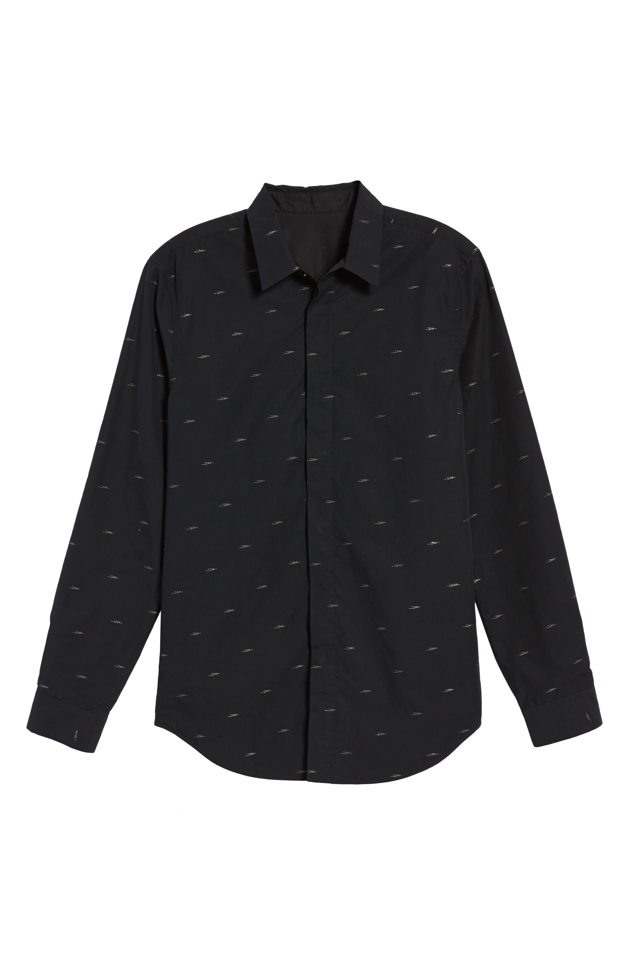 Levy Regular Fit Sport Shirt,                             Alternate thumbnail 6, color,                             001