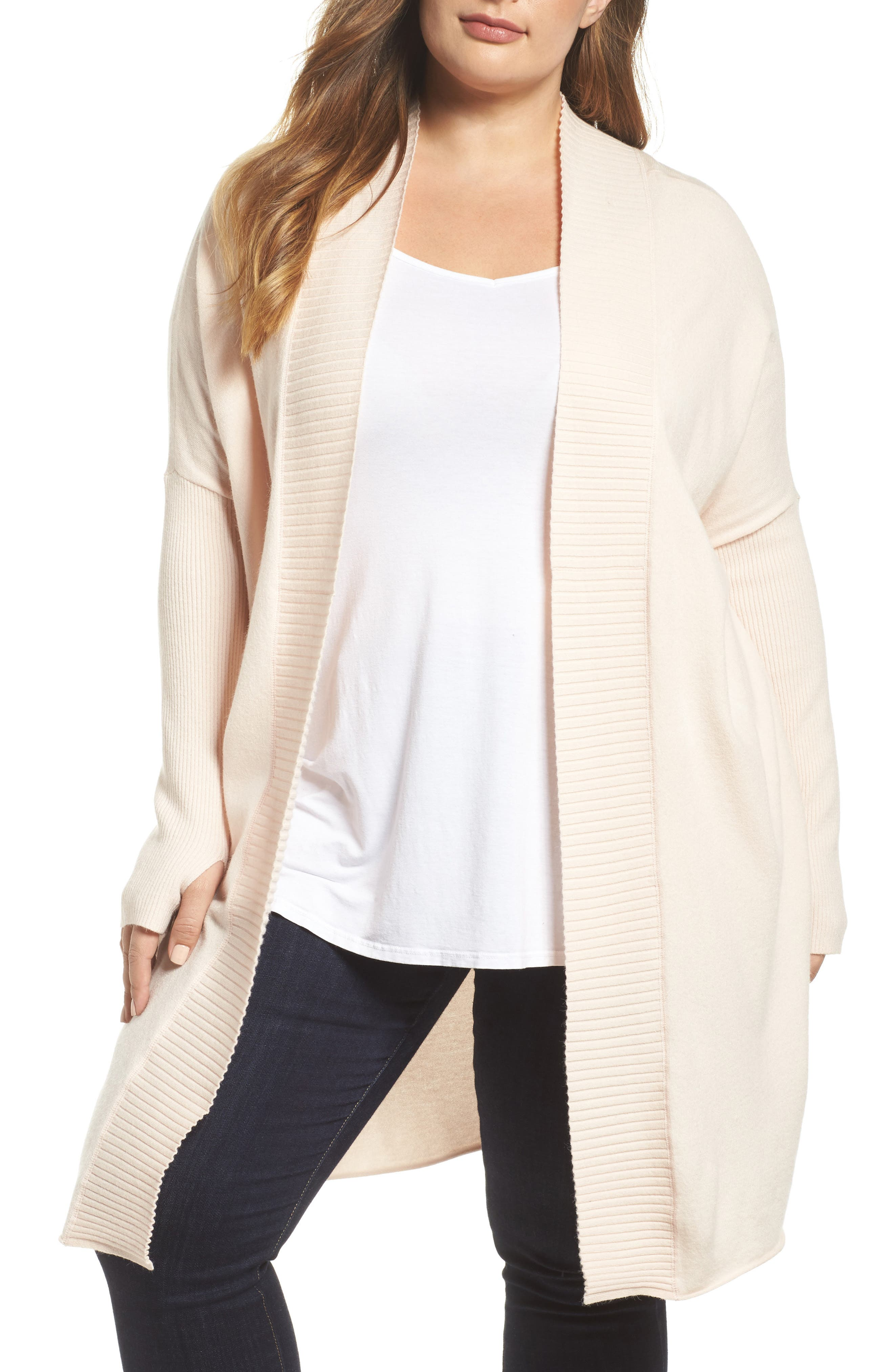 Off-Duty Long Open Front Cardigan,                             Main thumbnail 3, color,