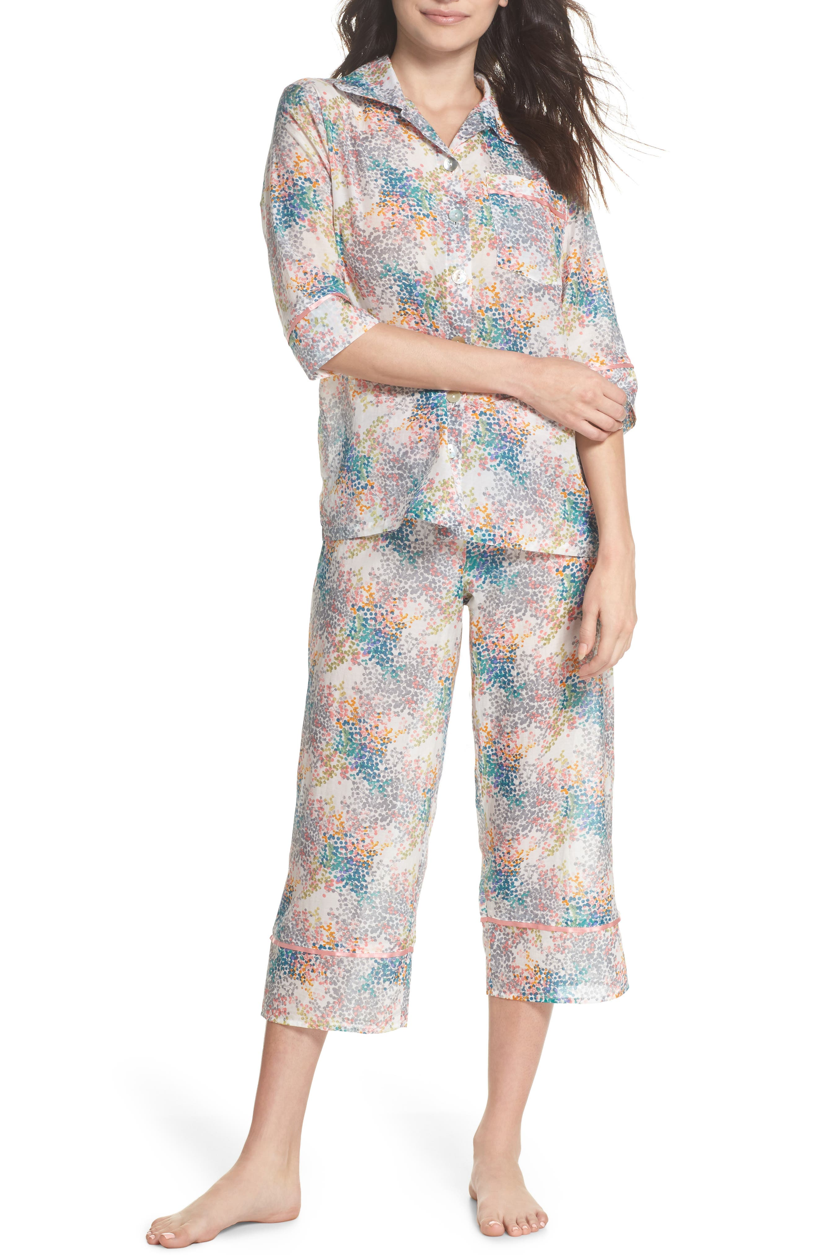Papinelle Bouquet Pajamas, Blue/green