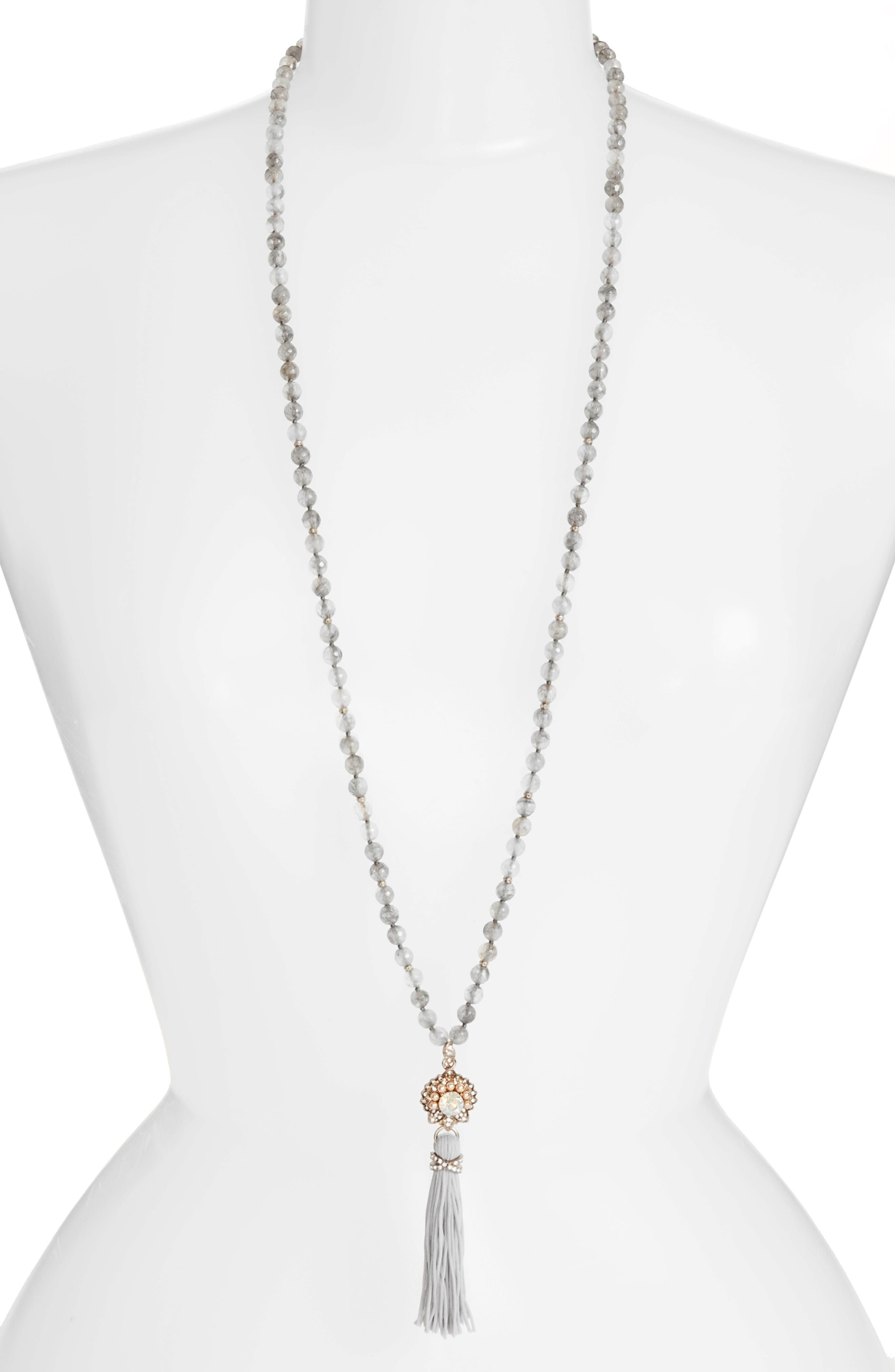Tassel Pendant Necklace,                             Main thumbnail 1, color,                             020