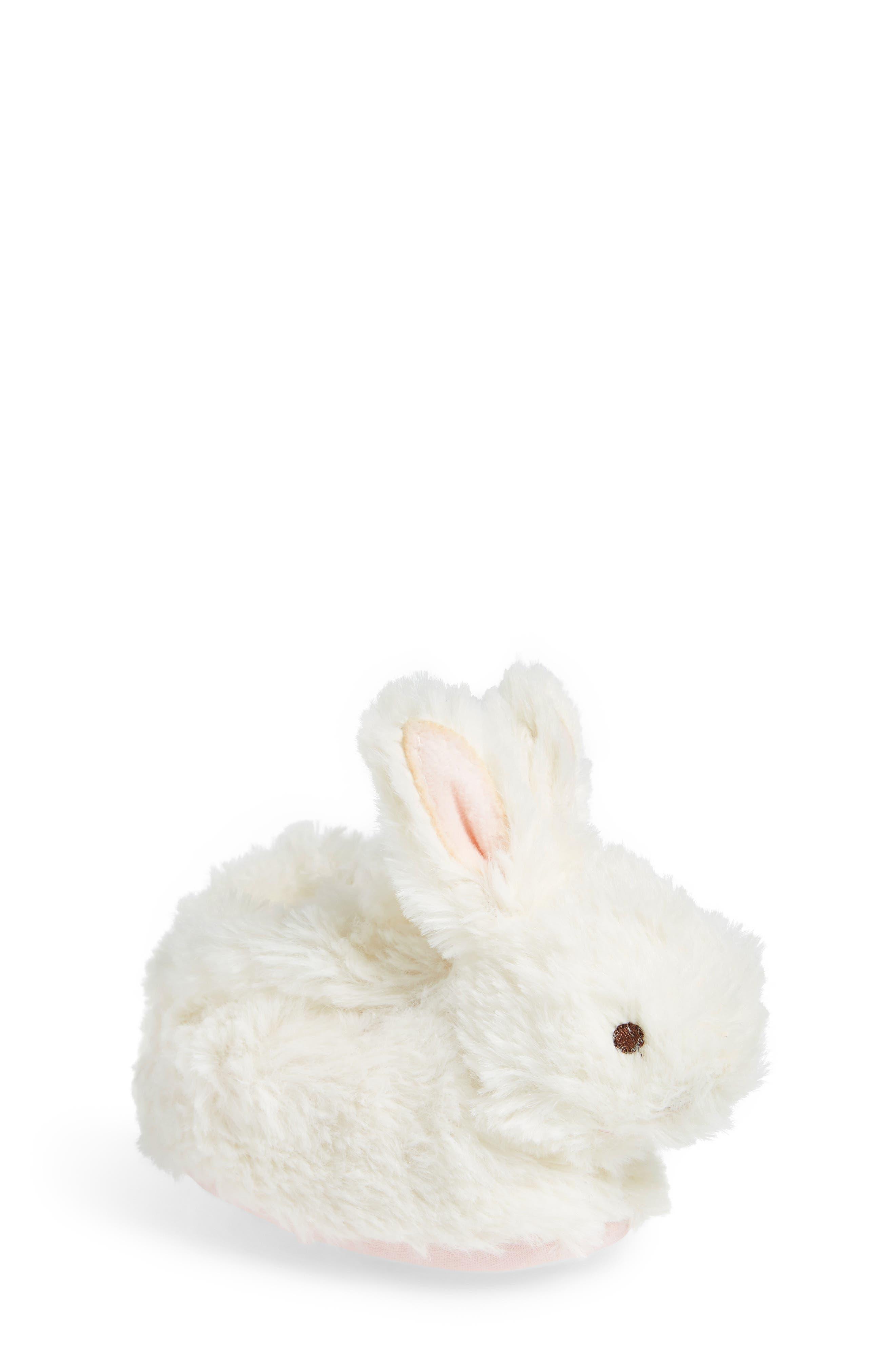 Faux Fur Bunny Slipper,                             Main thumbnail 1, color,                             100
