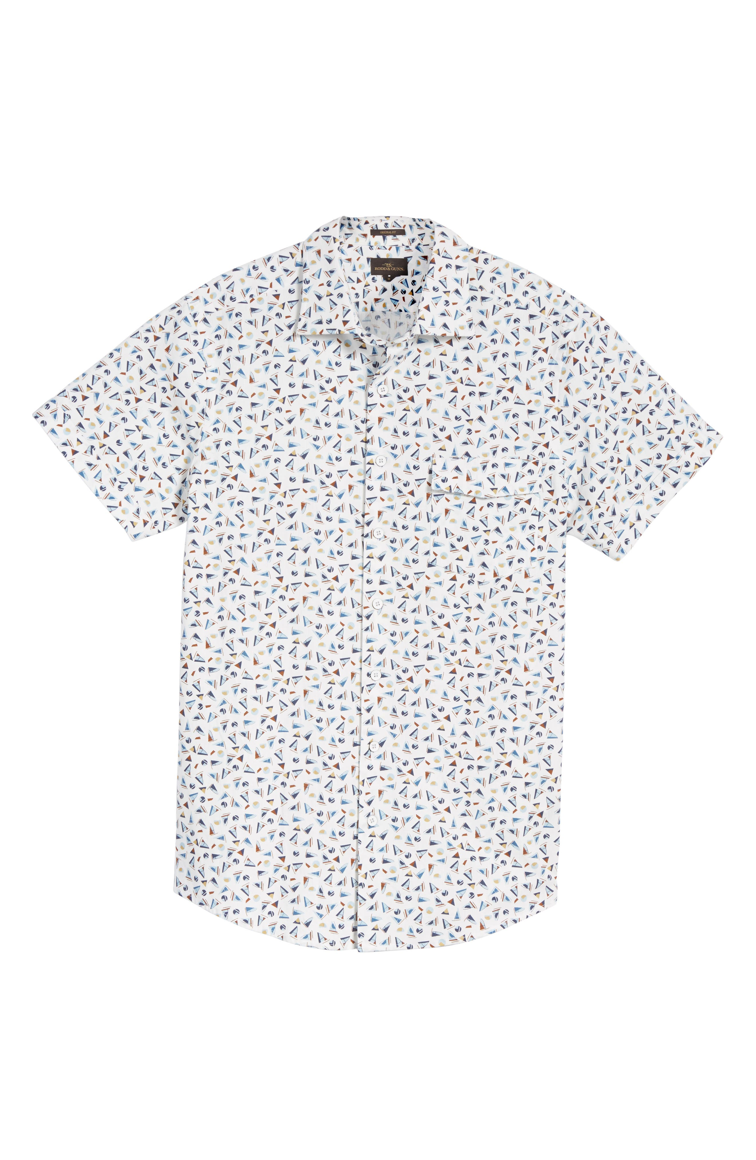 Coal Island Original Fit Print Sport Shirt,                             Alternate thumbnail 6, color,