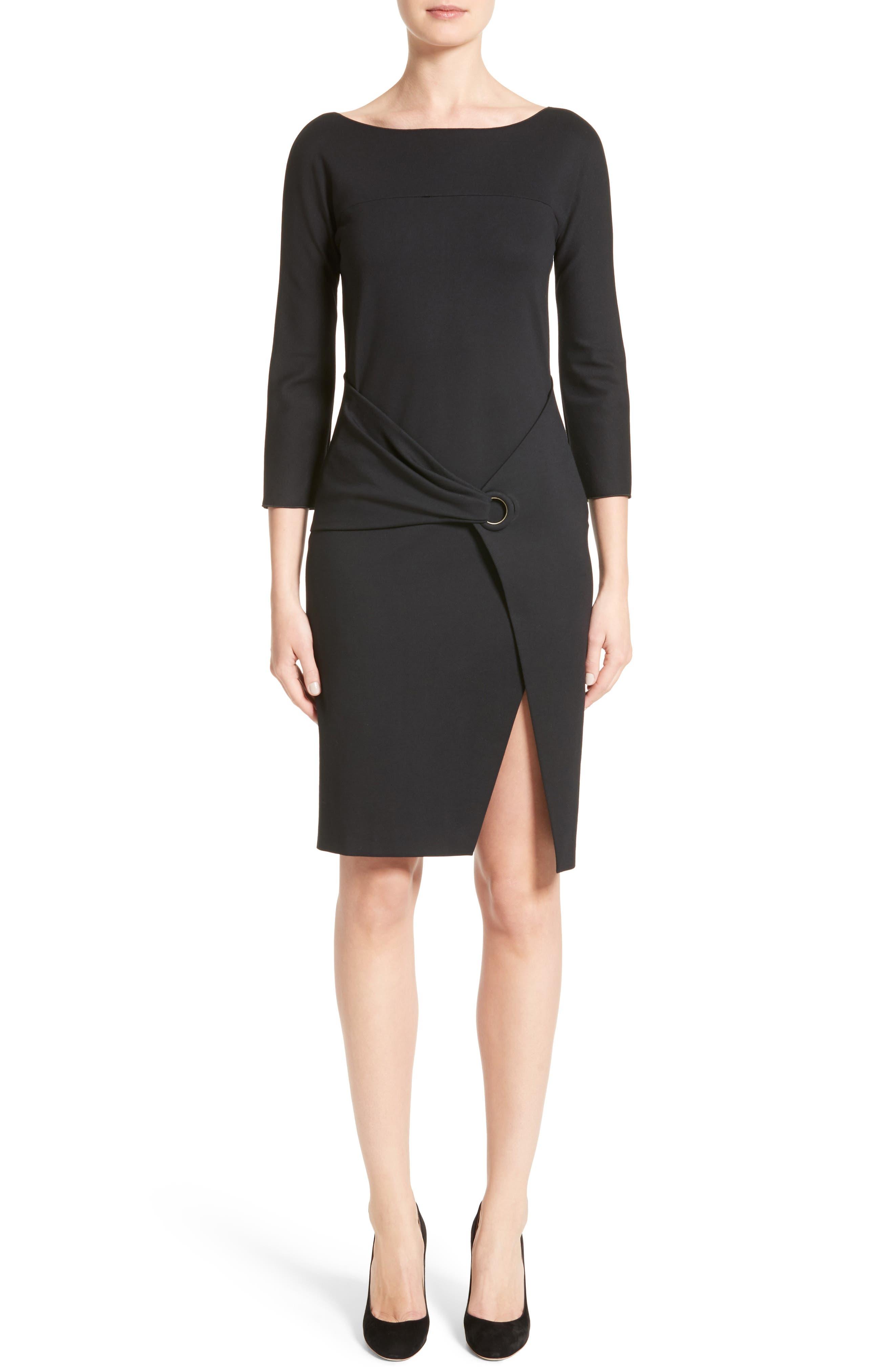 Grommet Detail Milano Jersey Dress,                             Main thumbnail 1, color,                             001