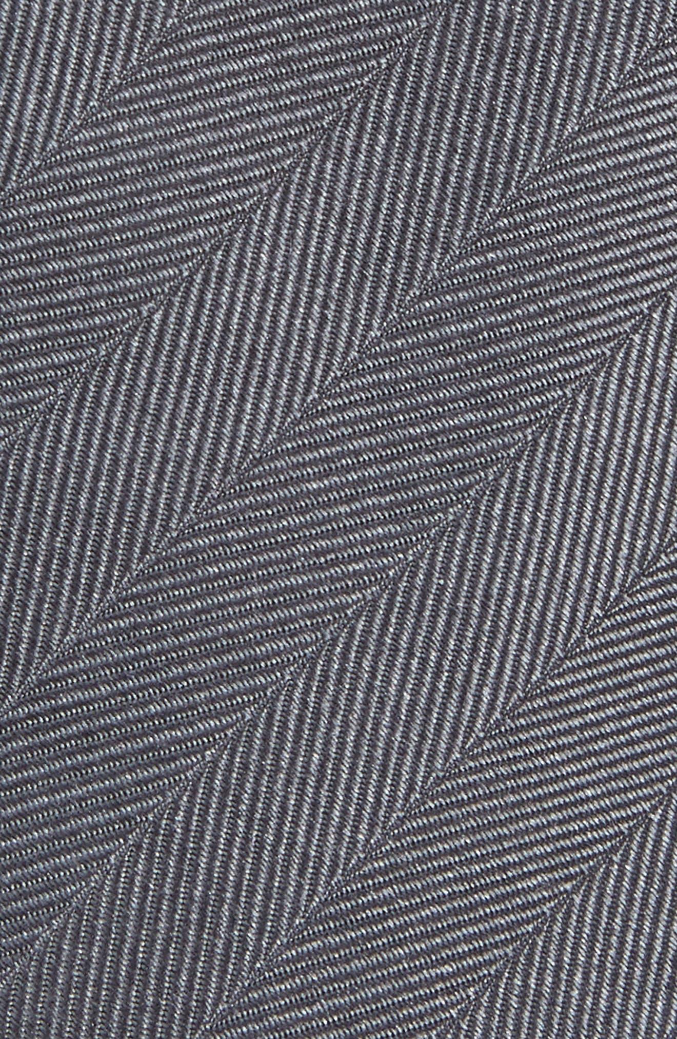 Herringbone Vow Silk Tie,                             Alternate thumbnail 2, color,                             CHARCOAL