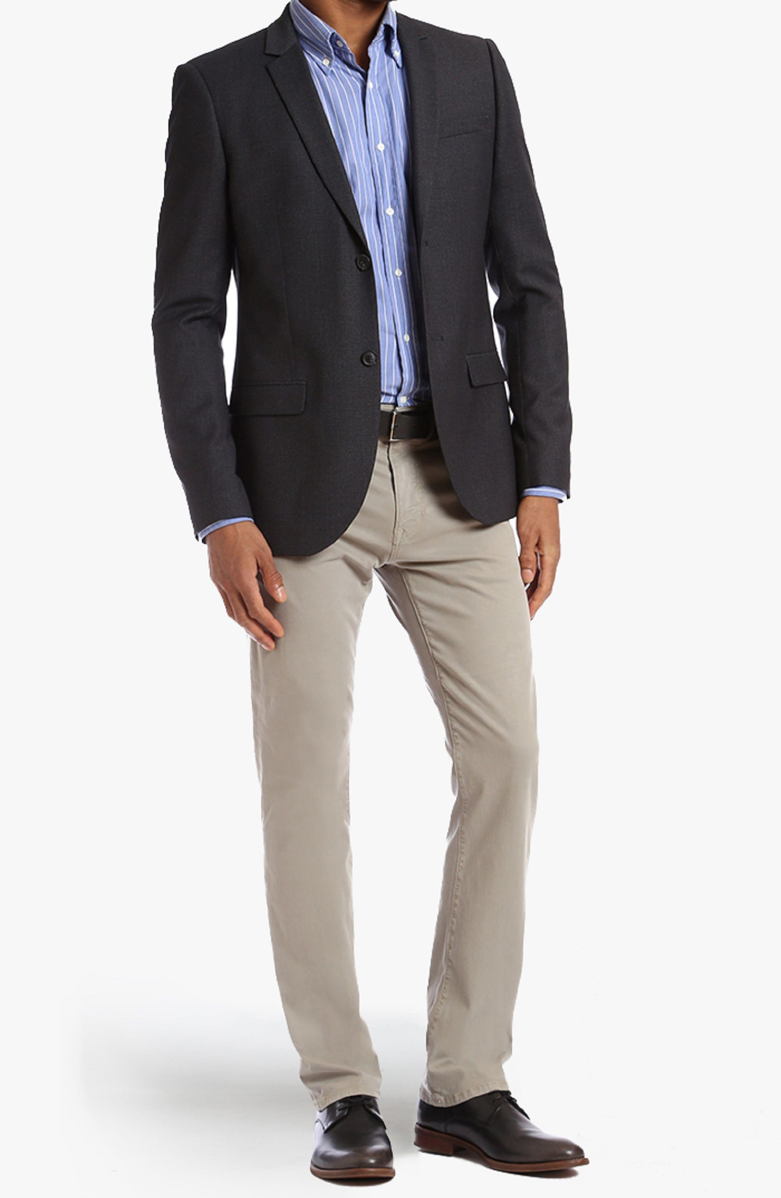 Courage Straight Fit Twill Pants,                             Alternate thumbnail 4, color,                             KHAKI FINE TWILL