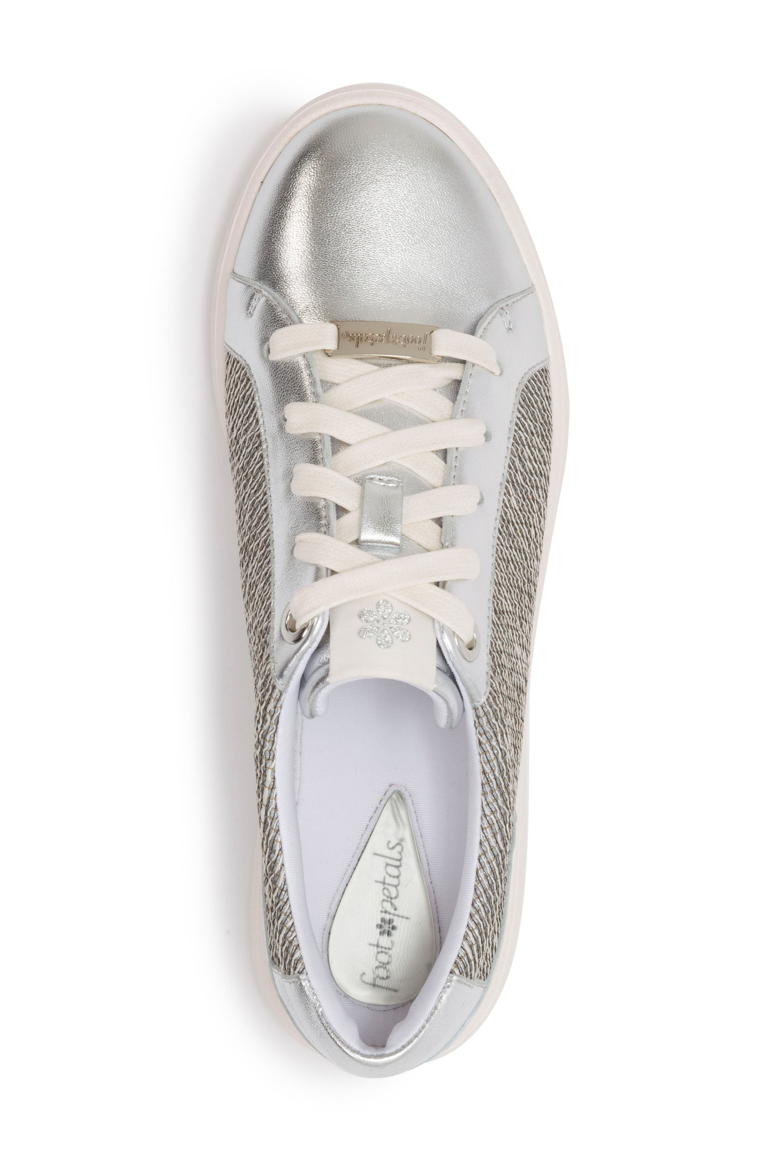 Andi Sneaker,                             Alternate thumbnail 5, color,                             SILVER LEATHER