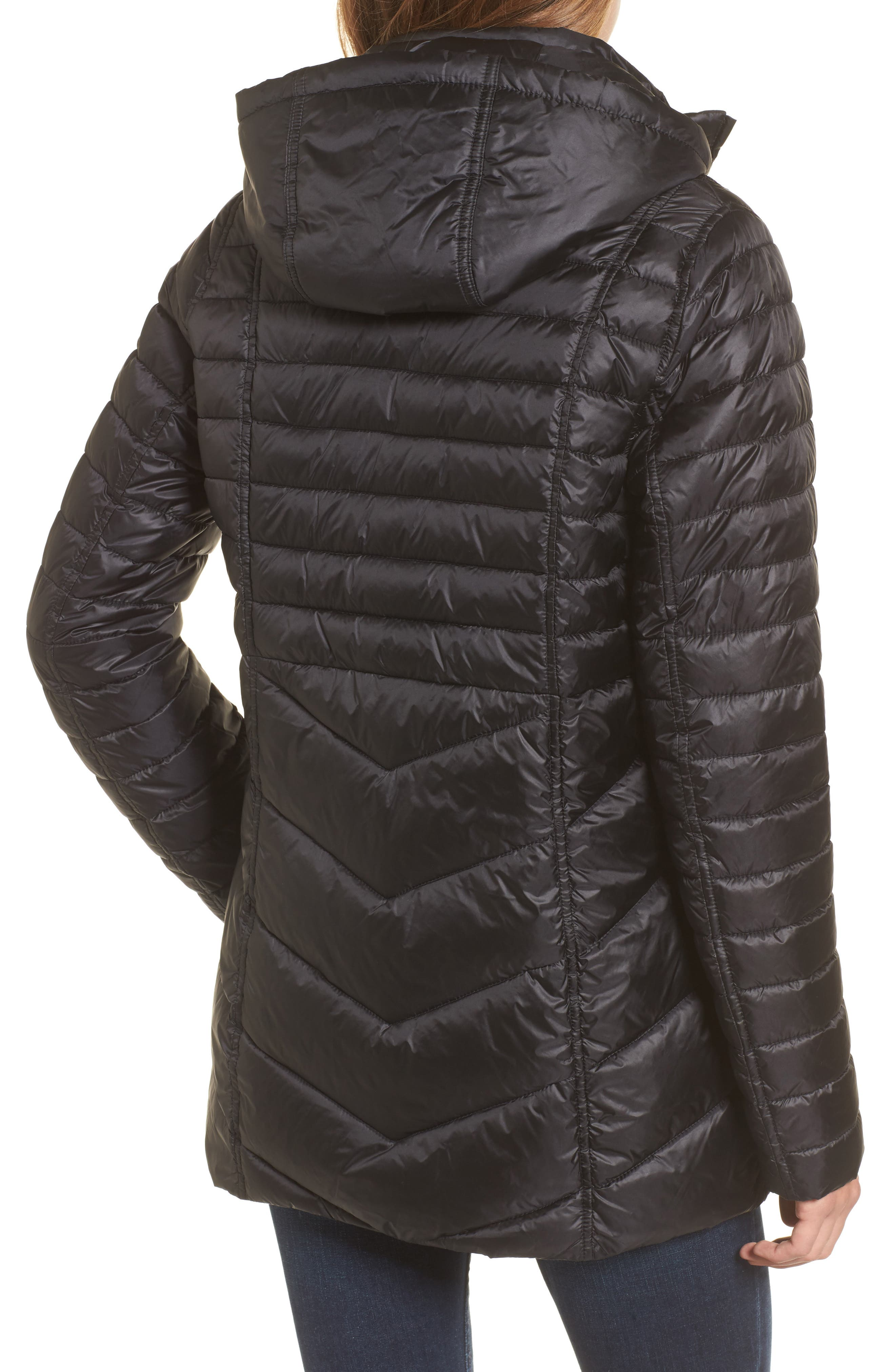 Linton Hooded Water Resistant Quilted Jacket,                             Alternate thumbnail 2, color,                             001