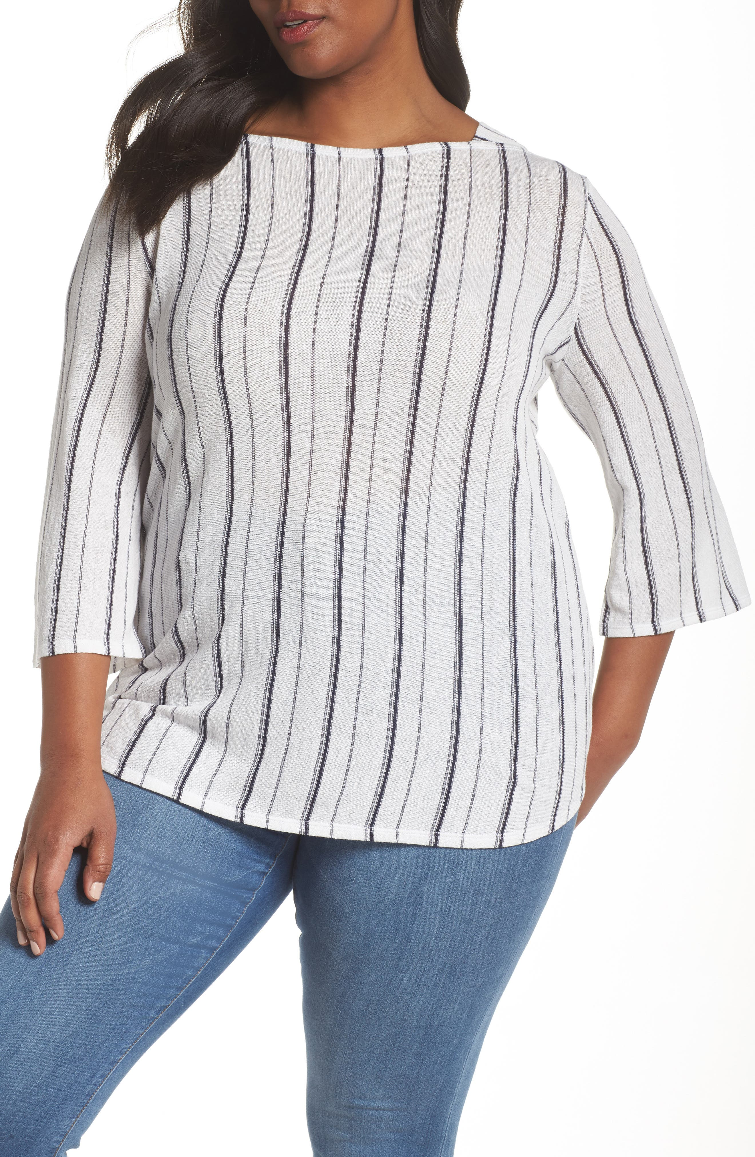 NIC+ZOE,                             In Motion Stripe Top,                             Main thumbnail 1, color,                             439