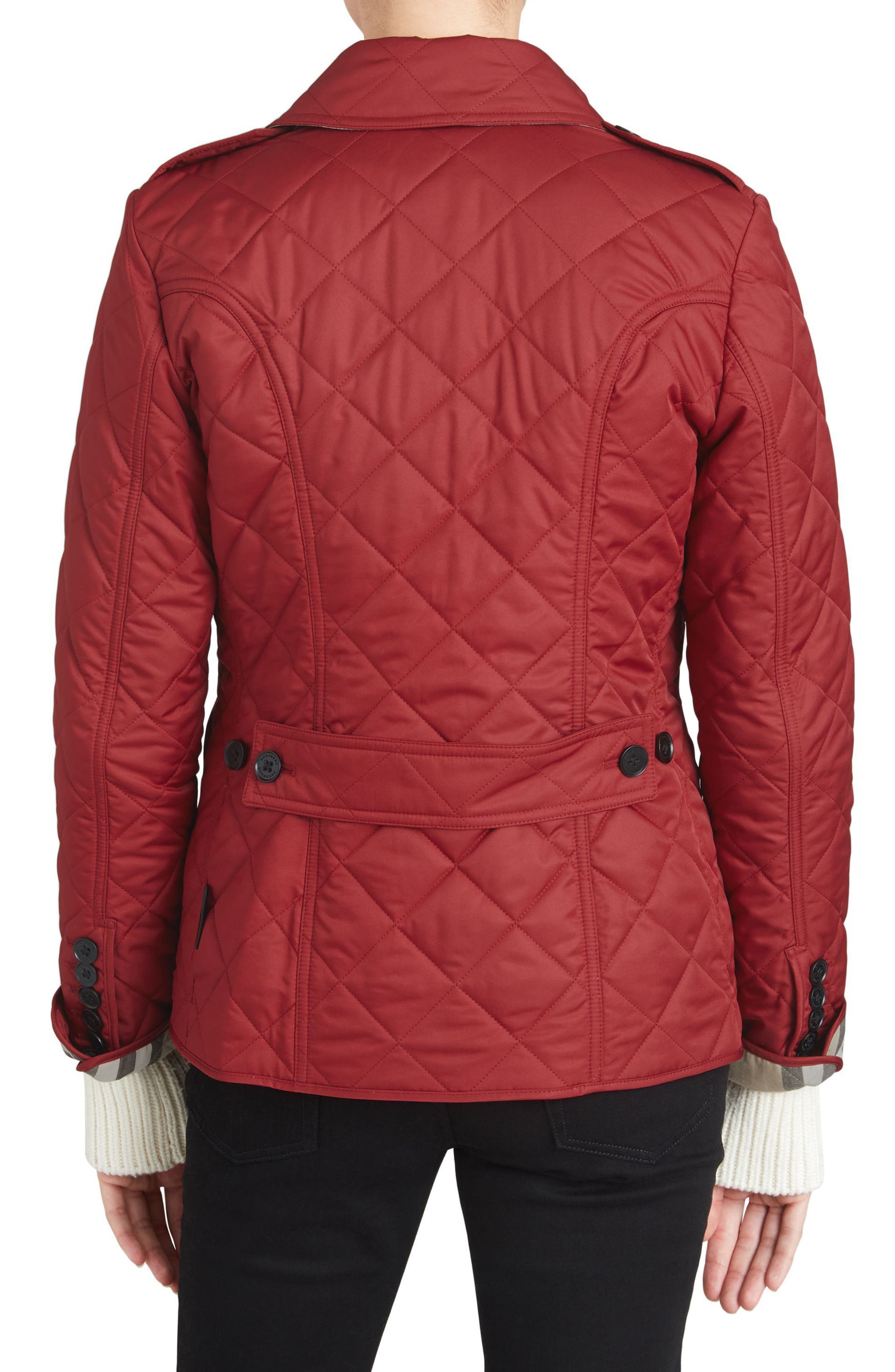 Frankby Quilted Jacket,                             Alternate thumbnail 2, color,                             PARADE RED