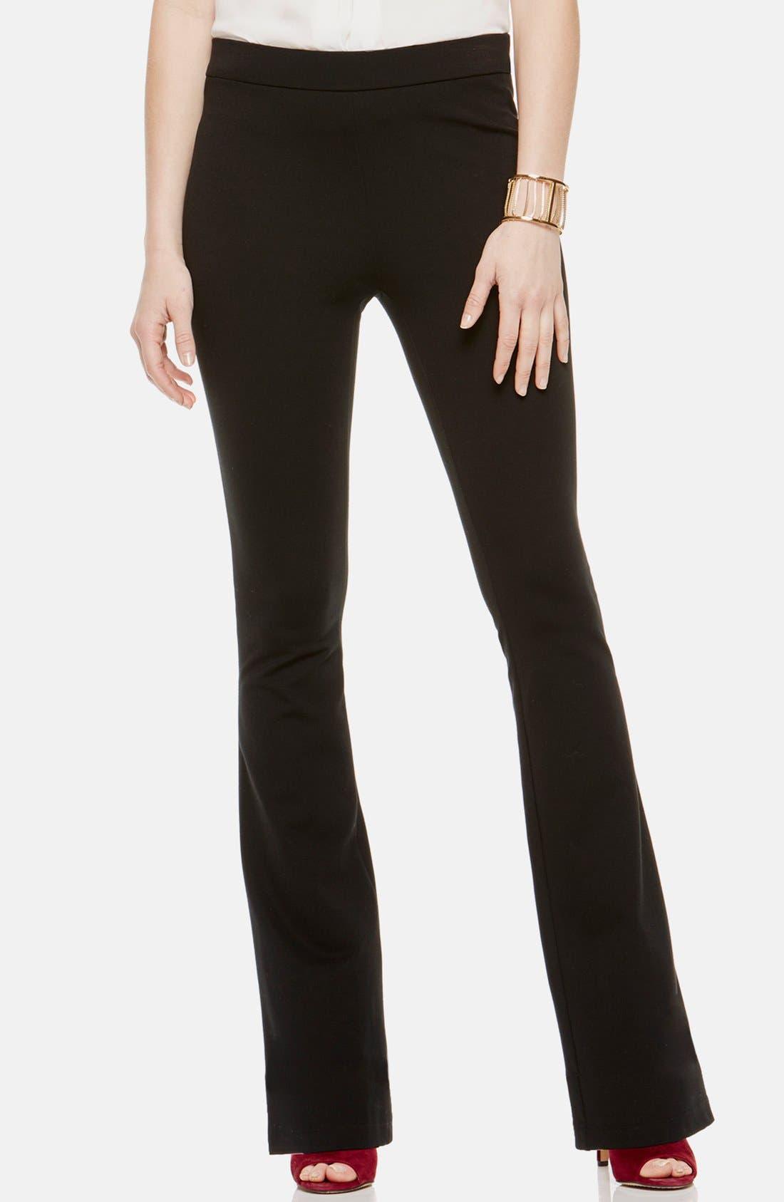 Flare Leg Pants,                             Main thumbnail 1, color,                             RICH BLACK
