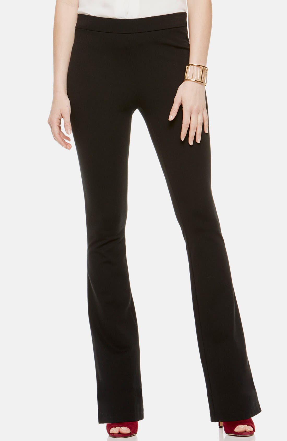 Flare Leg Pants,                         Main,                         color, RICH BLACK
