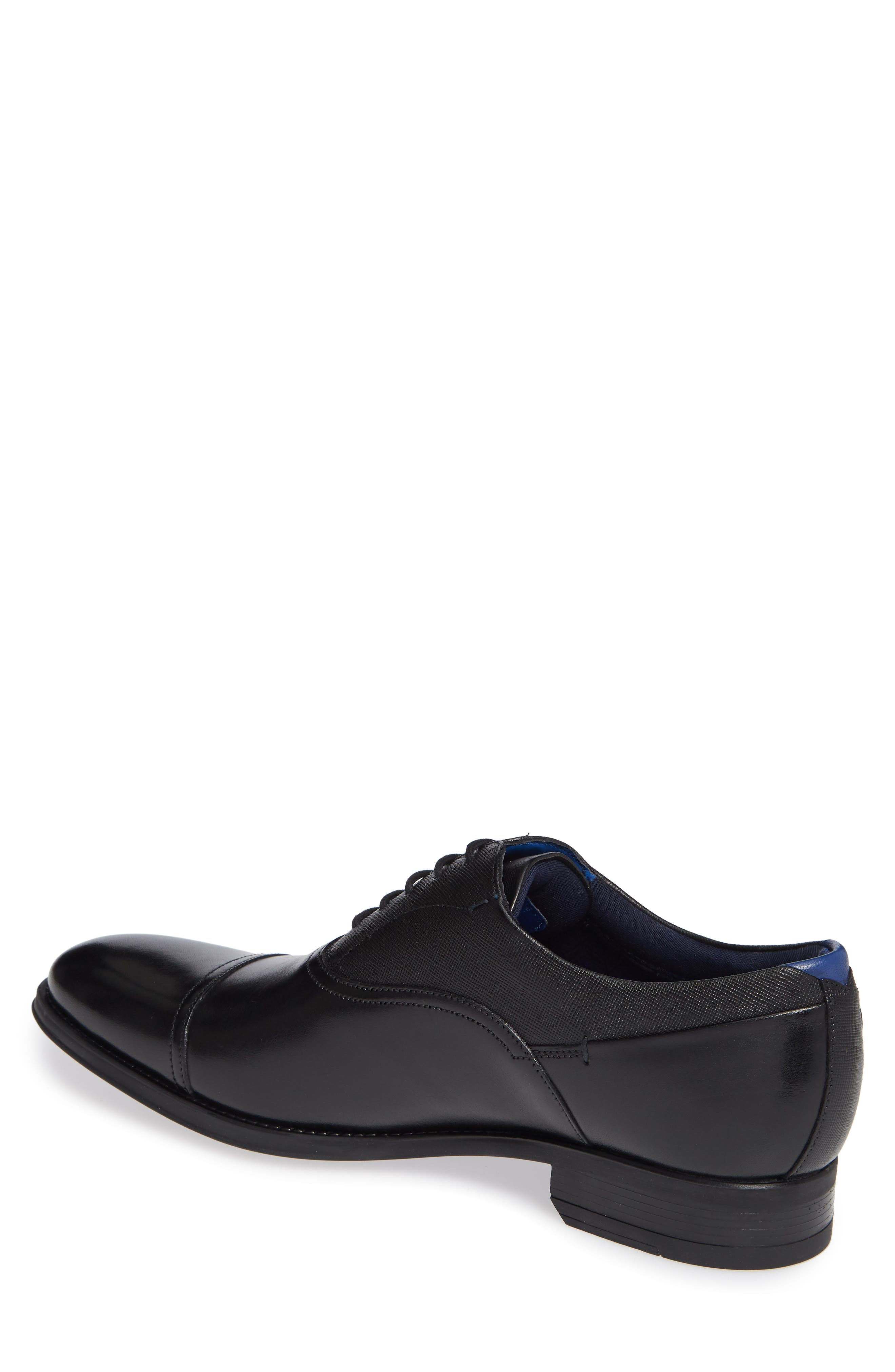 Fhares Cap Toe Oxford,                             Alternate thumbnail 2, color,                             BLACK