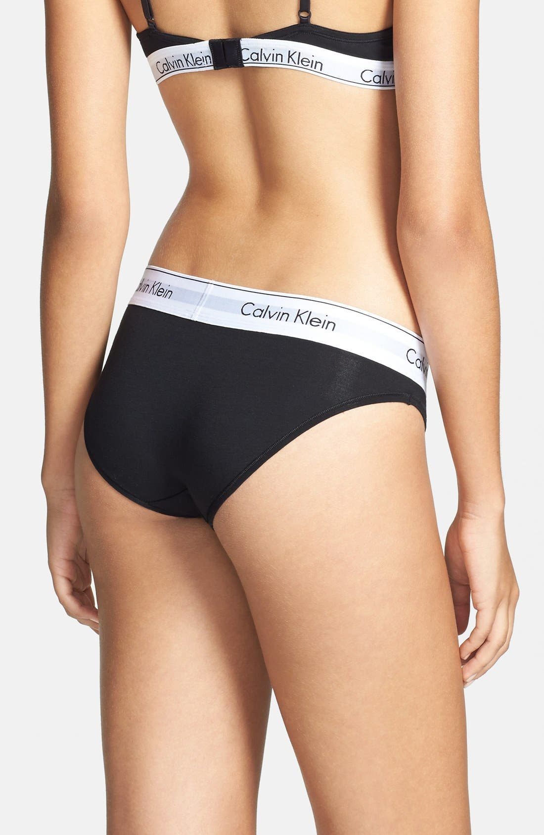 'Modern Cotton Collection' Cotton Blend Bikini,                             Alternate thumbnail 11, color,                             001