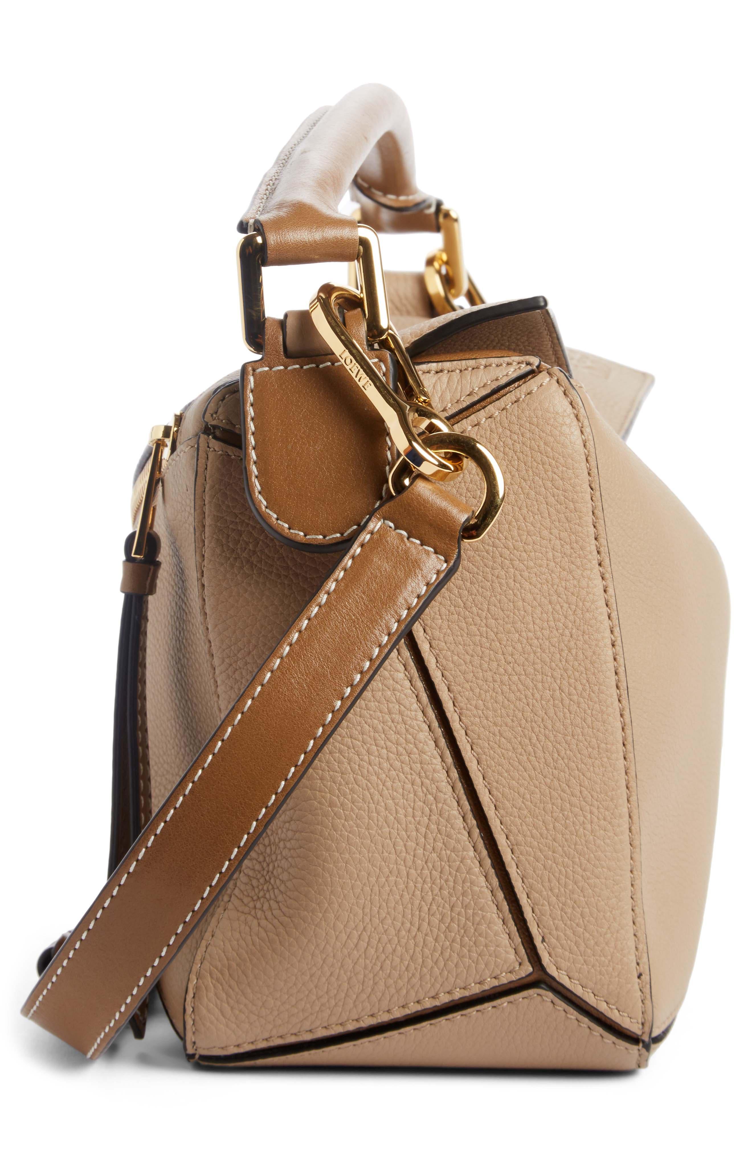 Medium Puzzle Calfskin Leather Shoulder Bag,                             Alternate thumbnail 3, color,                             200
